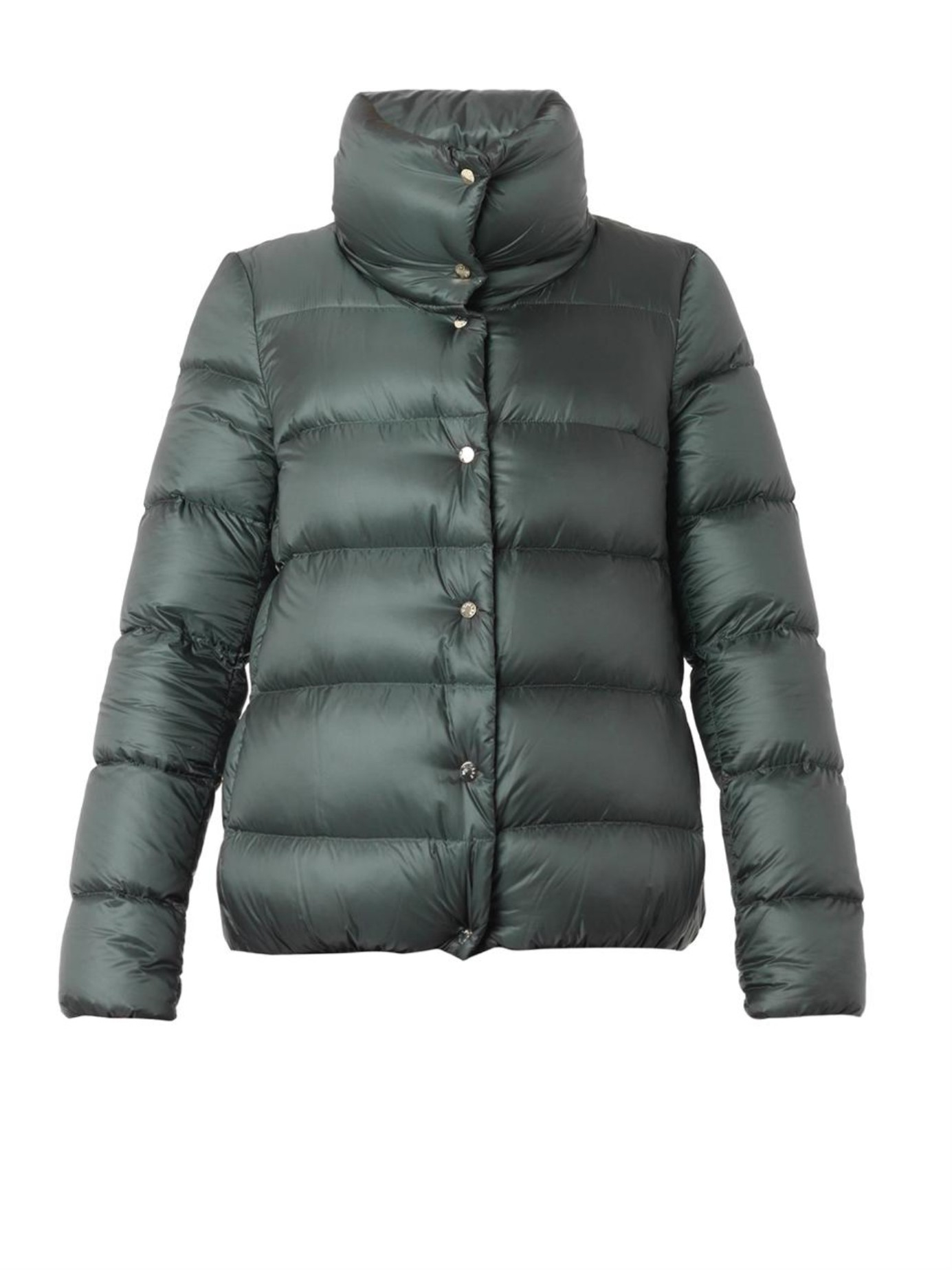 Moncler Bourdon Quilted Down Jacket in Green | Lyst