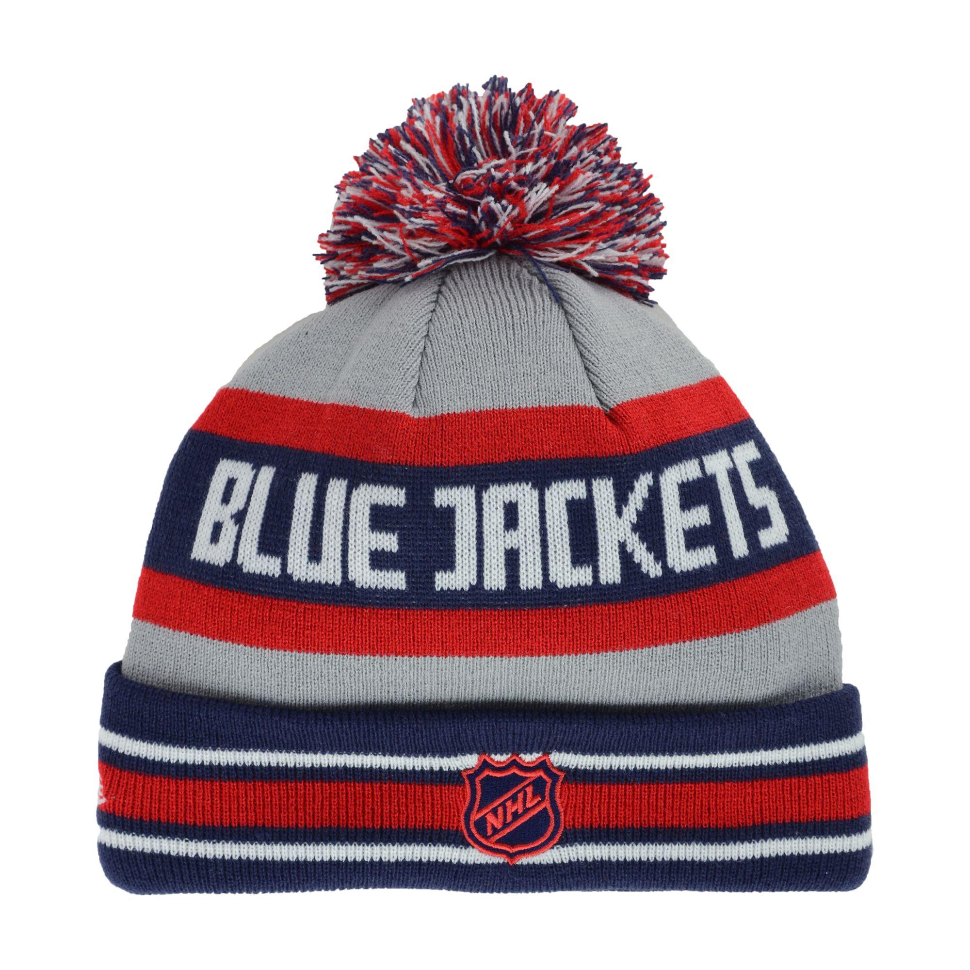 4a870fcc56c Lyst - KTZ Columbus Blue Jackets Jake Pom Knit Hat in Gray for Men