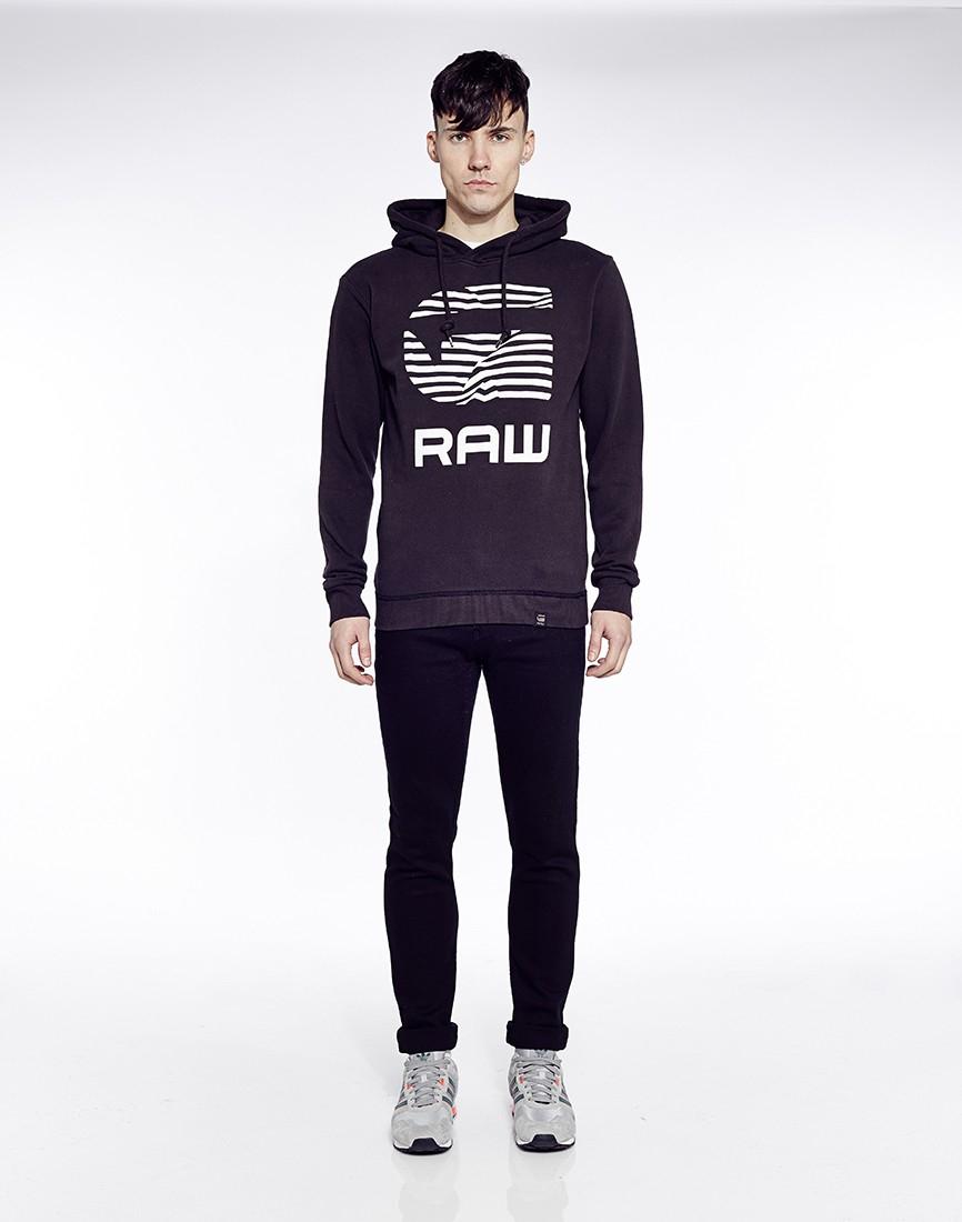 g star raw g star rickner hoodie in black for men lyst. Black Bedroom Furniture Sets. Home Design Ideas