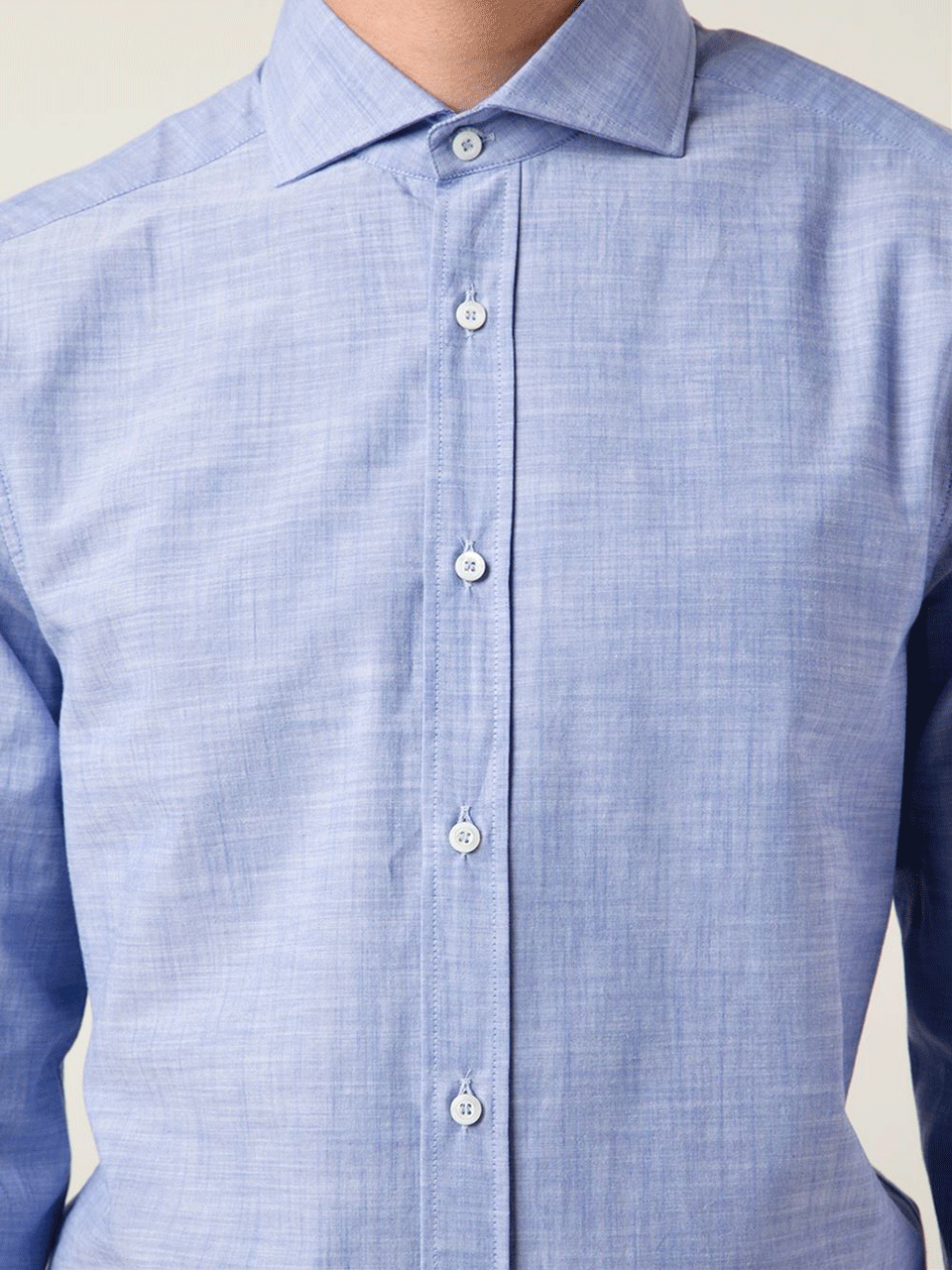 Brunello cucinelli spread collar oxford shirt in blue for for What is a spread collar shirt