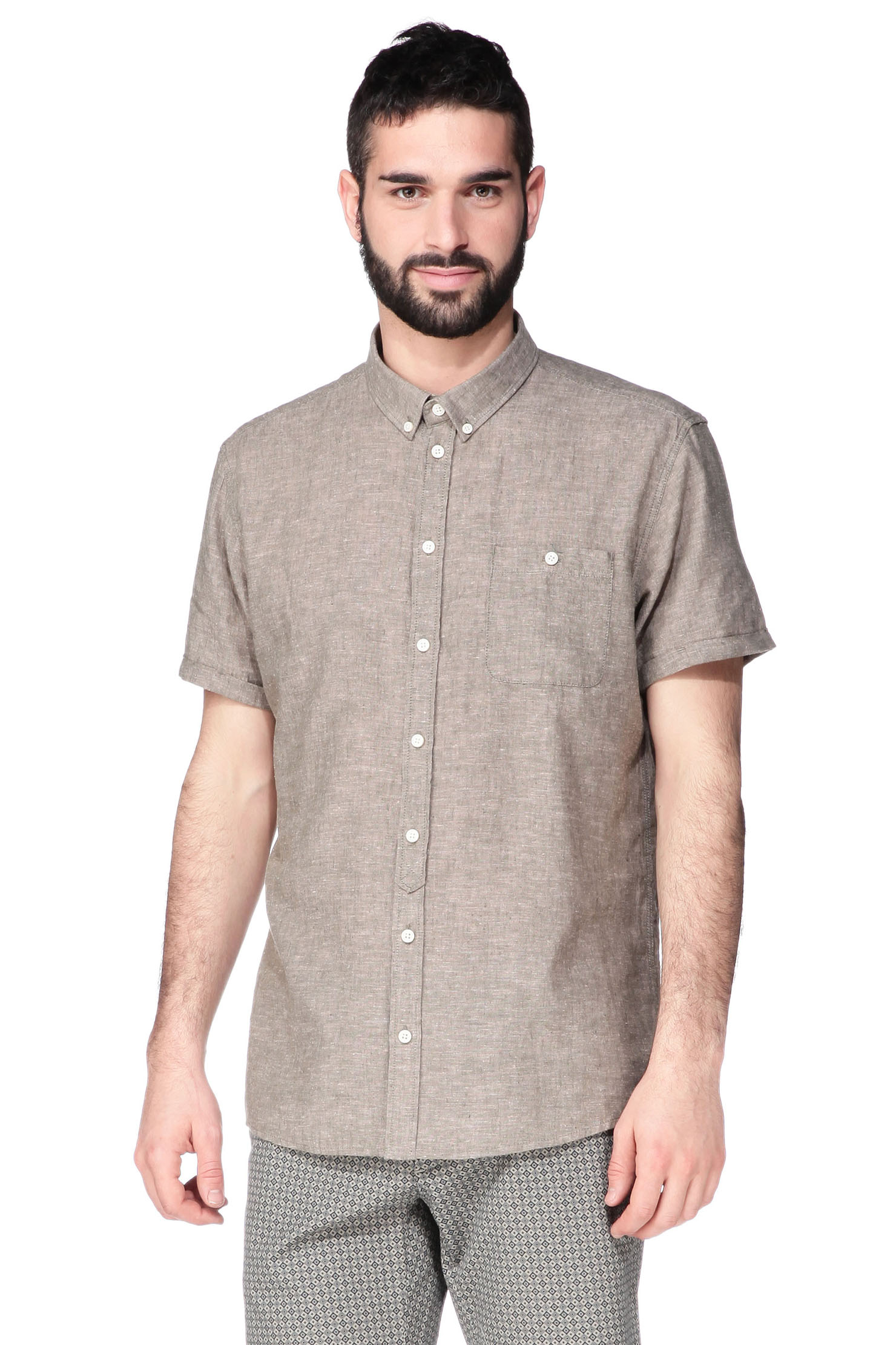 Lyst Minimum Short Sleeve Shirt In Natural For Men