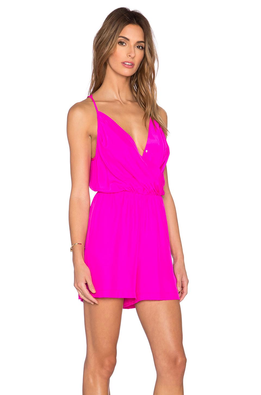 Amanda Uprichard Chelsea Romper In Pink Lyst