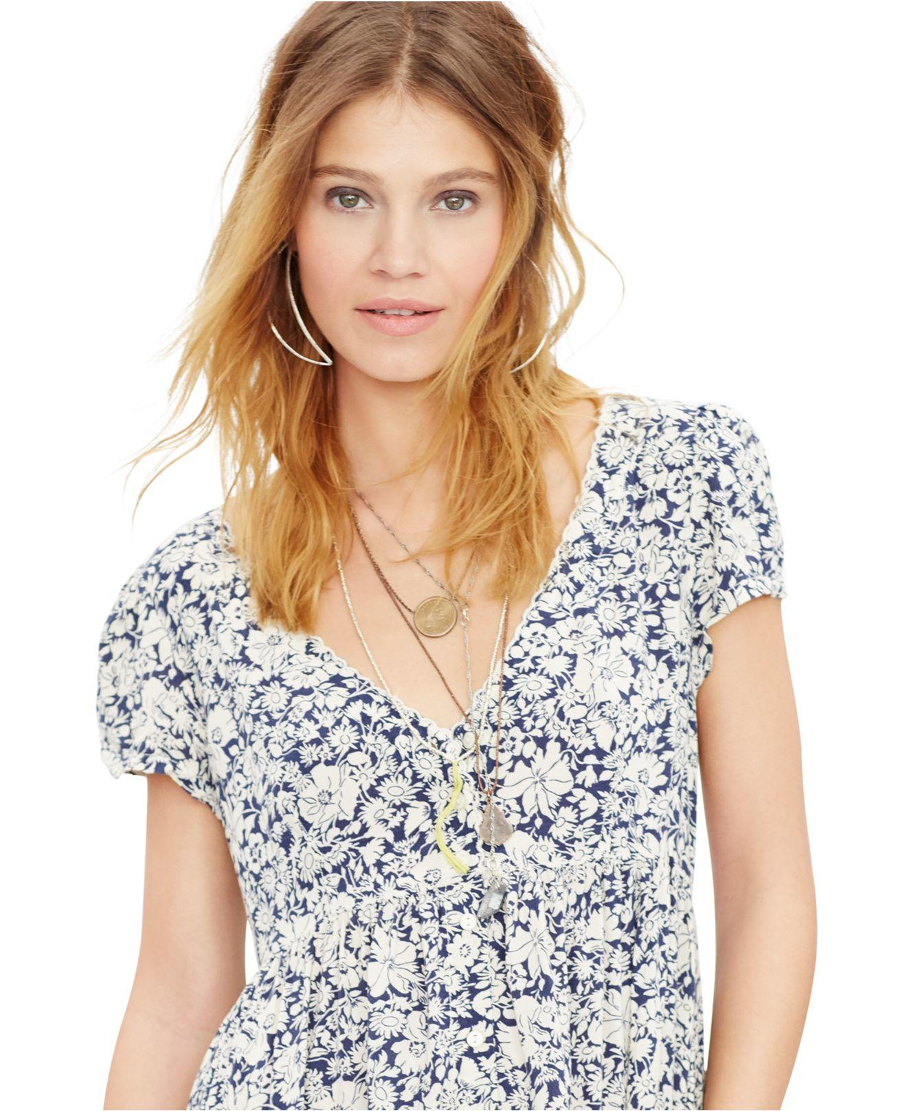 f294ad7977 Lyst - Denim   Supply Ralph Lauren Floral-print Babydoll Dress