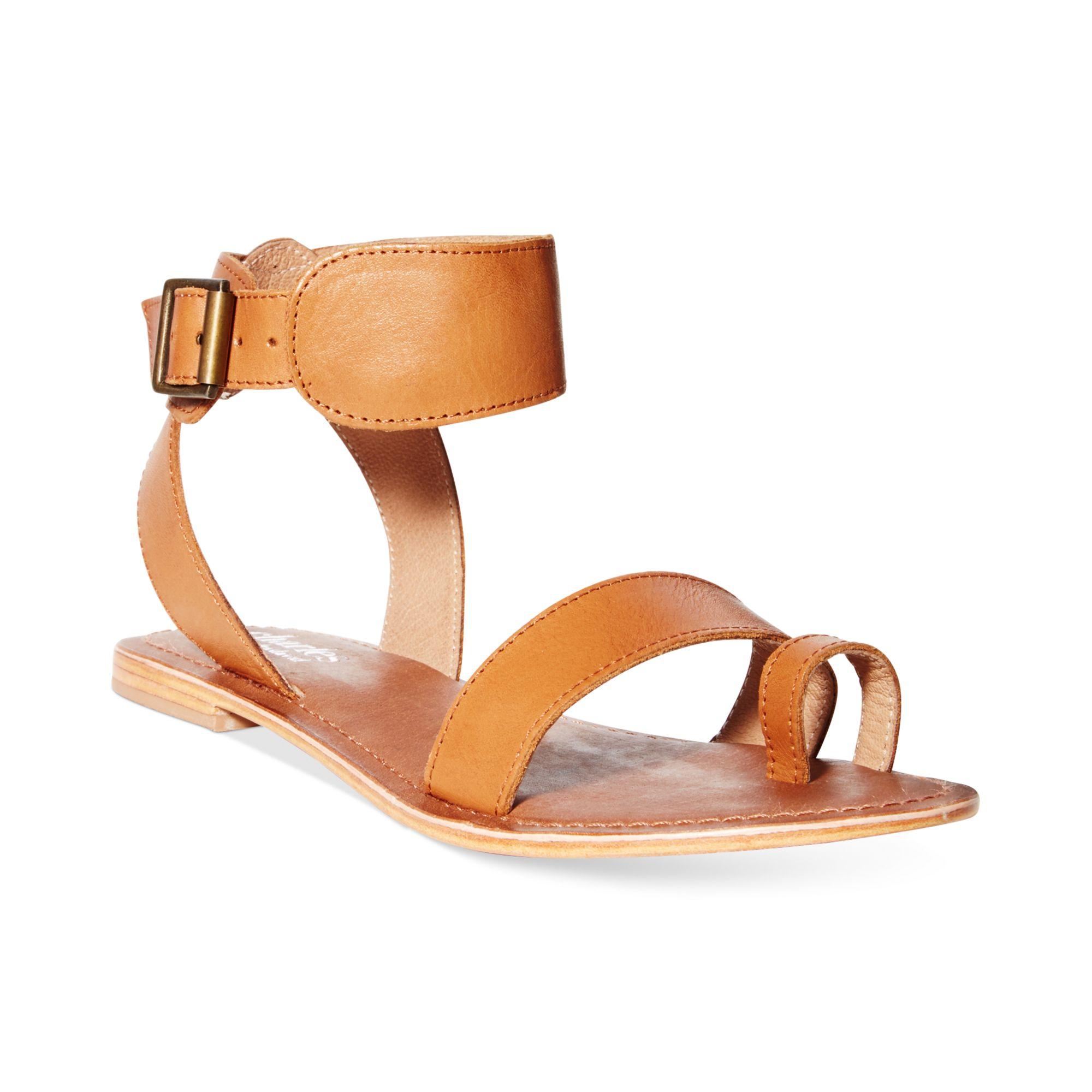 5f427f0670c5 Lyst - Charles David Verge Flat Sandals in Brown