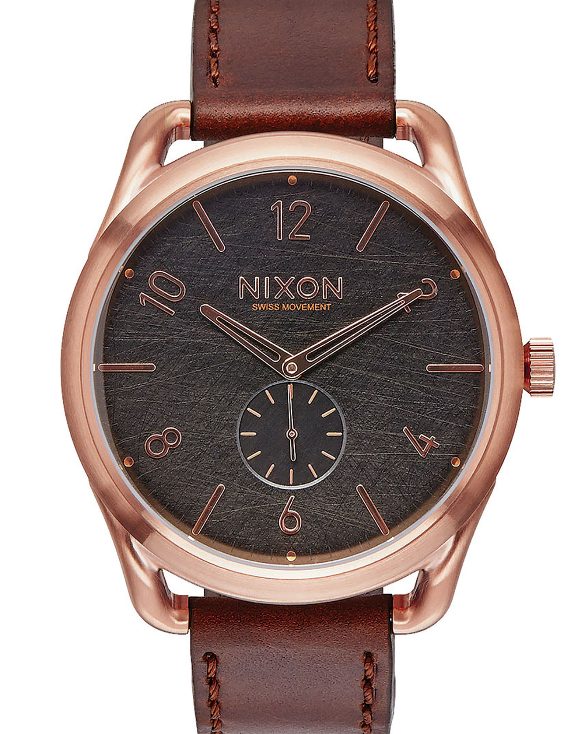 Nixon Rose Gold C45 Watch And Brown Horween Leather in ...