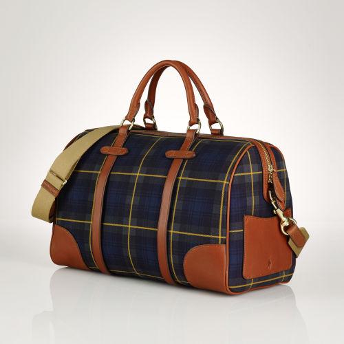 Lyst - Polo Ralph Lauren Large Tartan Duffel Bag in Green b60d0bf2719b6