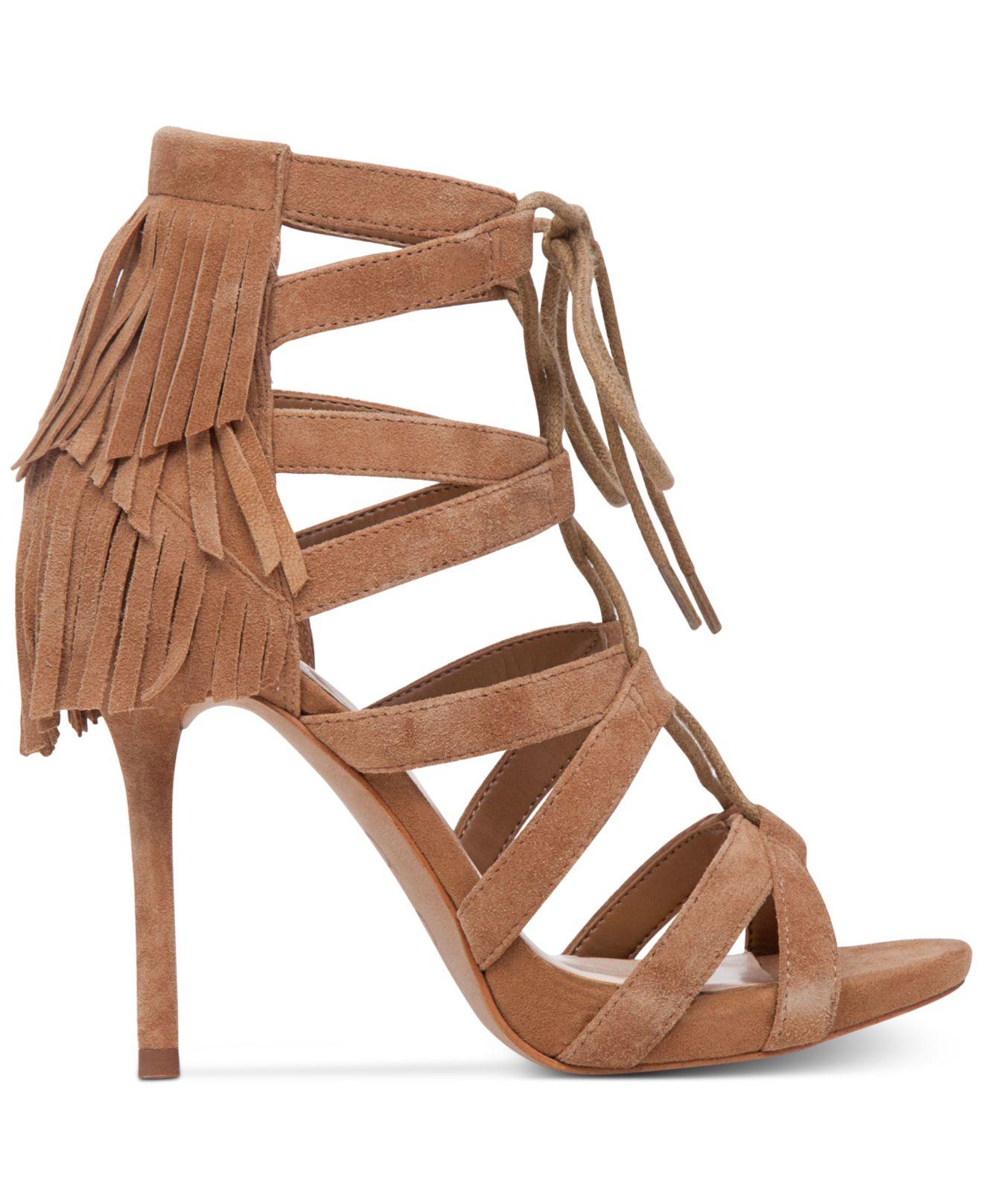 f53ab17ff53 Lyst - Jessica Simpson Bregan Fringe Lace-up Gladiator Sandals in ...