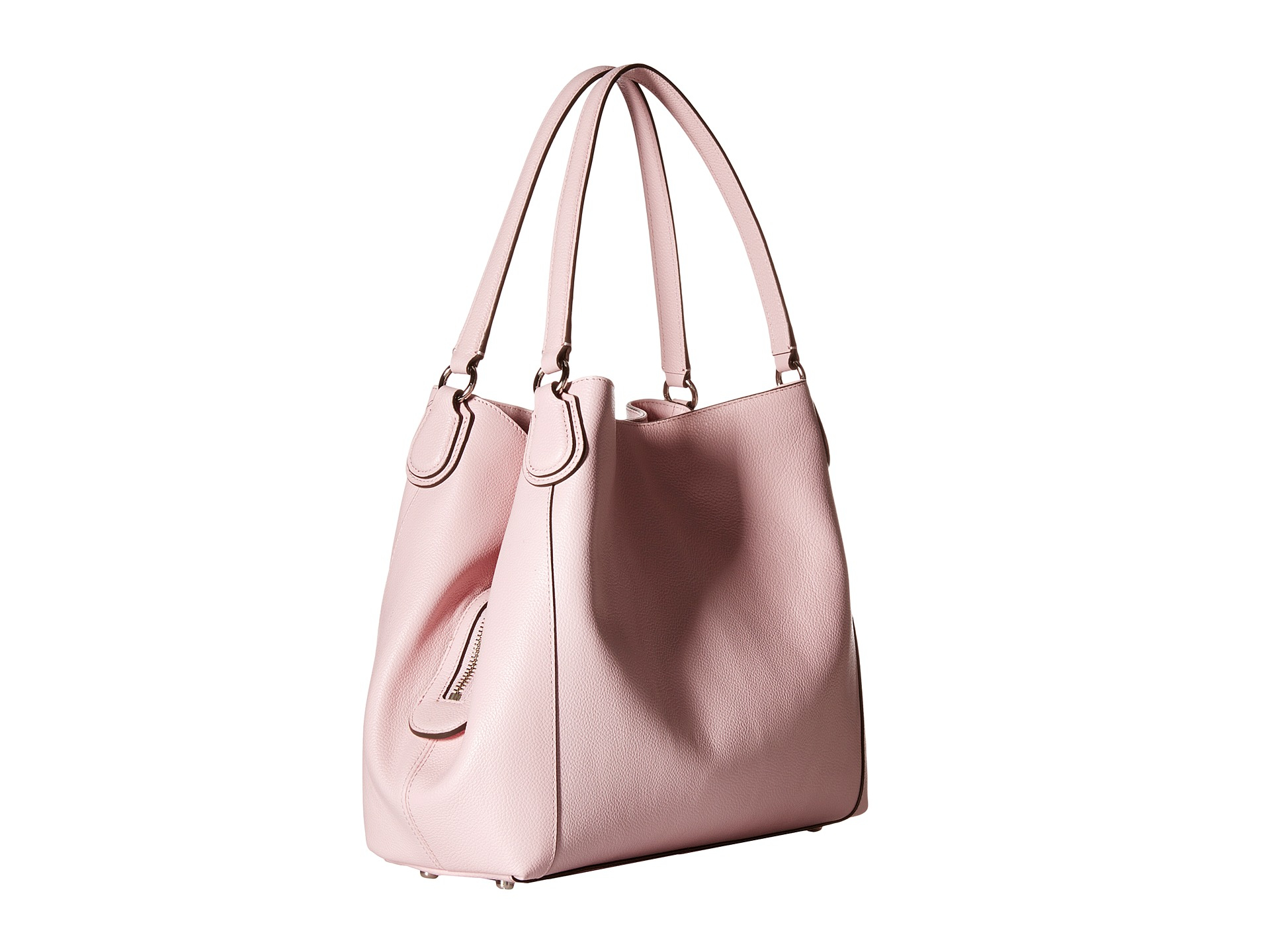 1a5c60c63dc7a ... buy lyst coach refined pebble leather edie 31 shoulder bag in pink  1a656 d043c