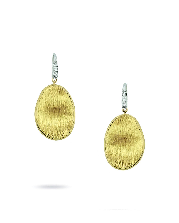 Marco bicego lunaria drop earrings with diamonds in metallic lyst