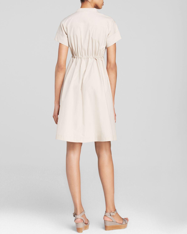 weekend by maxmara dress svedese sleeveless in beige lyst. Black Bedroom Furniture Sets. Home Design Ideas