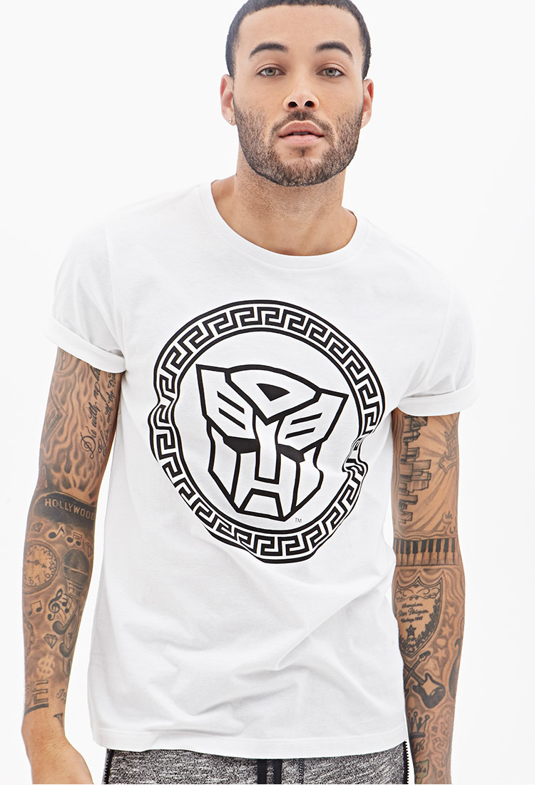 f86693787 Forever 21 Transformers Graphic Tee in White for Men - Lyst