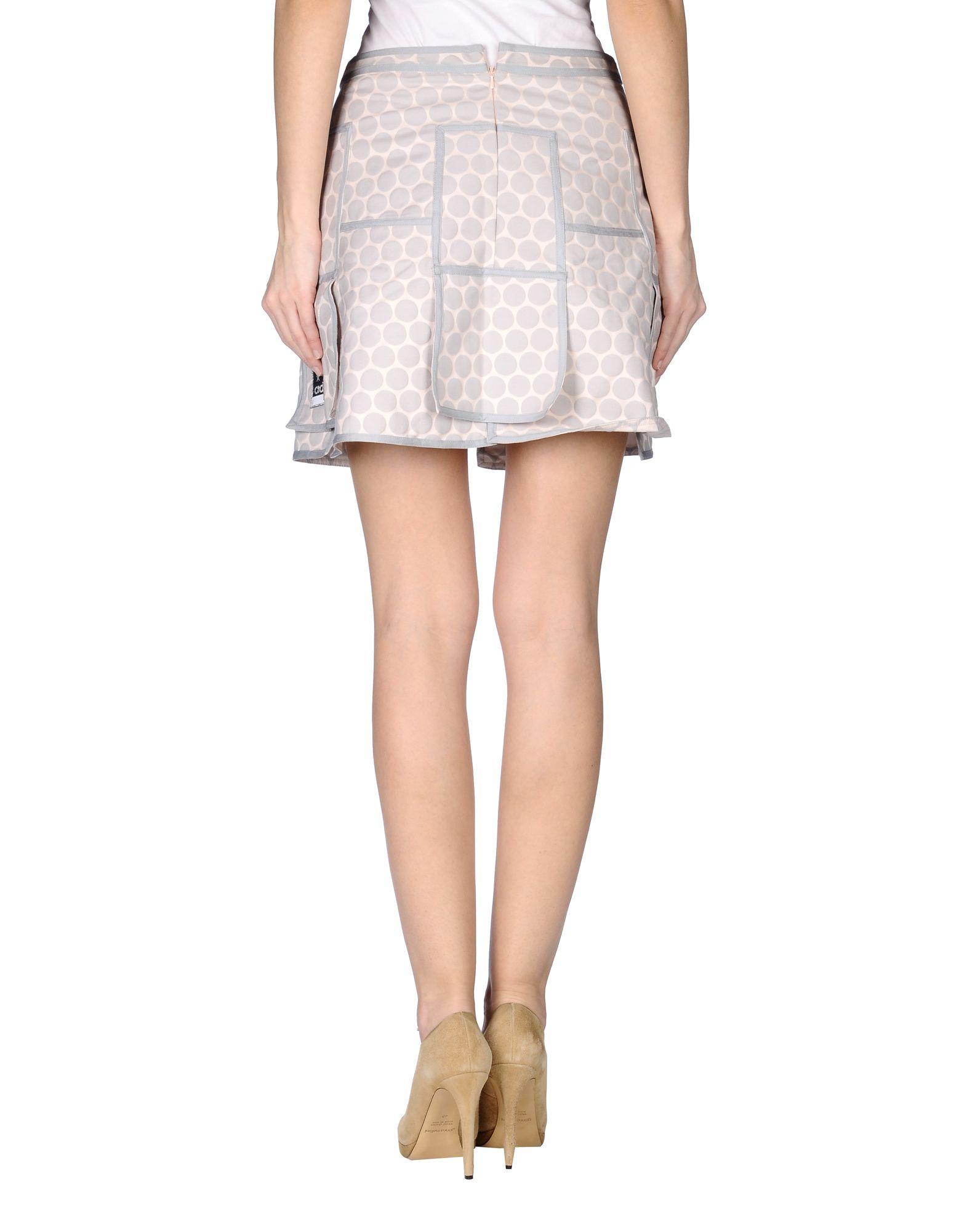 Lyst Adidas Originals Mini Skirt In Gray