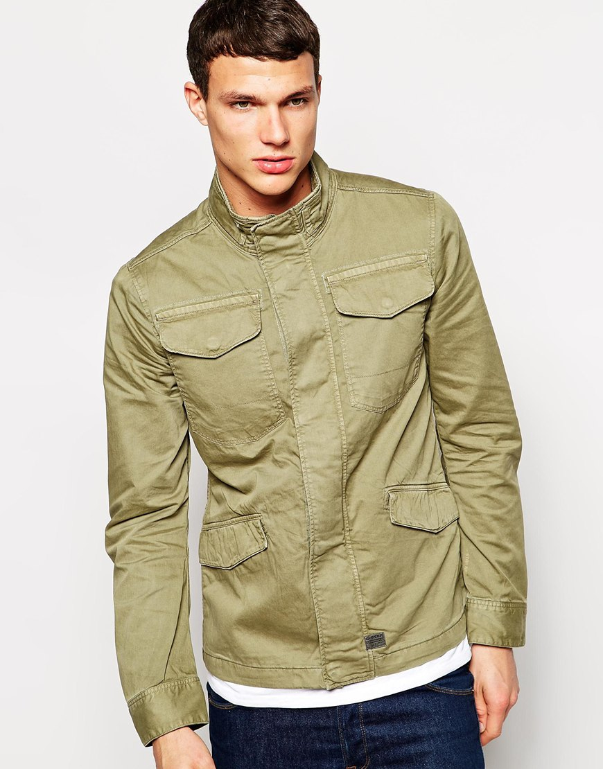 lyst g star raw g star overshirt jacket tamson field overdye in green for men. Black Bedroom Furniture Sets. Home Design Ideas