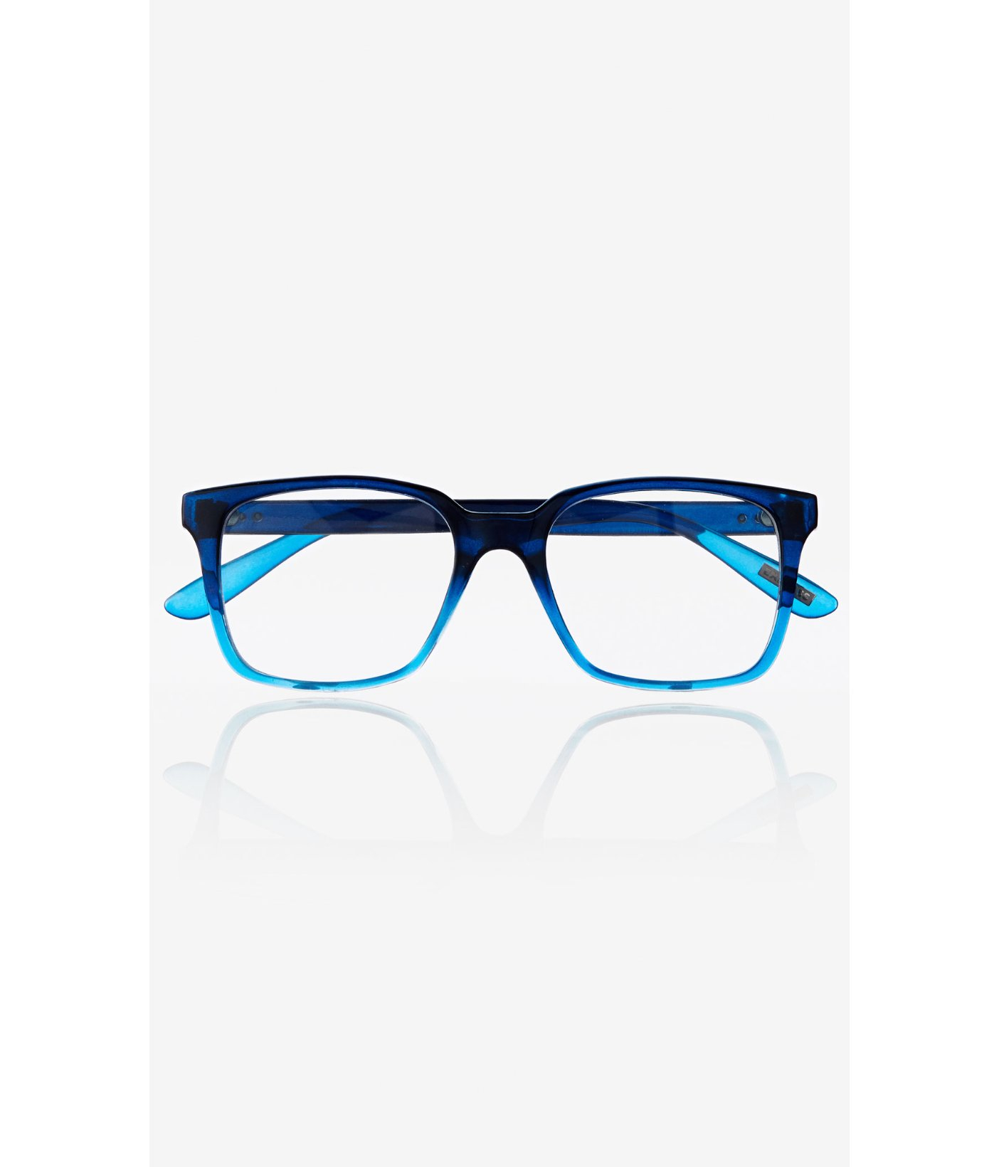 Lyst - Express Blue Ombre Frame Clear Lens Glasses in Blue