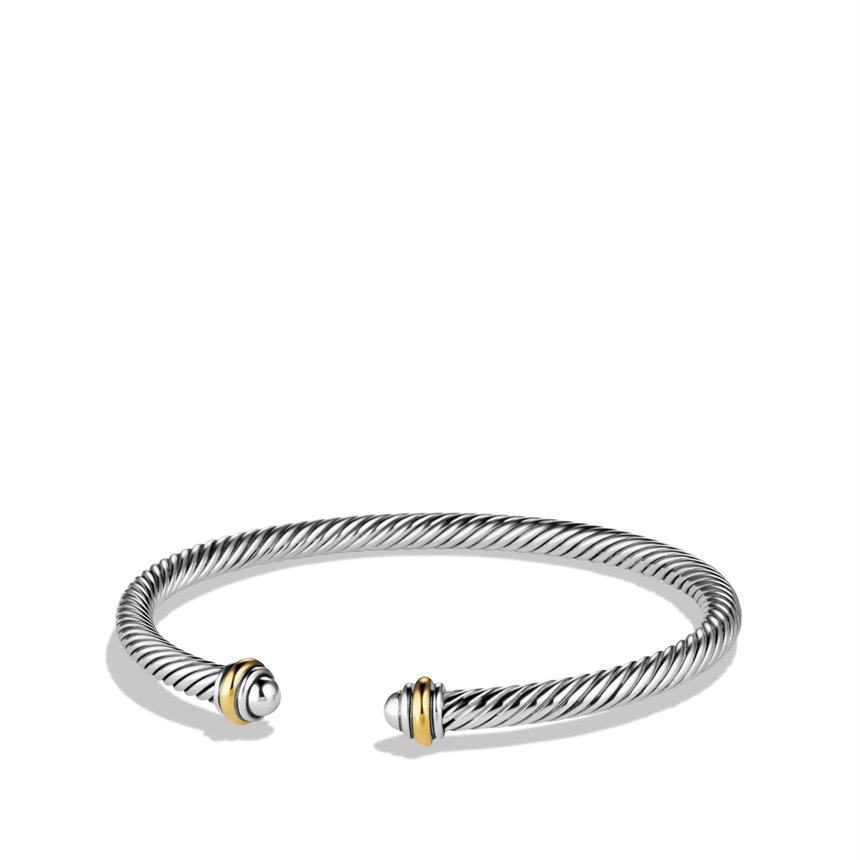 Lyst david yurman cable classics bracelet with gold in for David yurman inspired bracelet cable