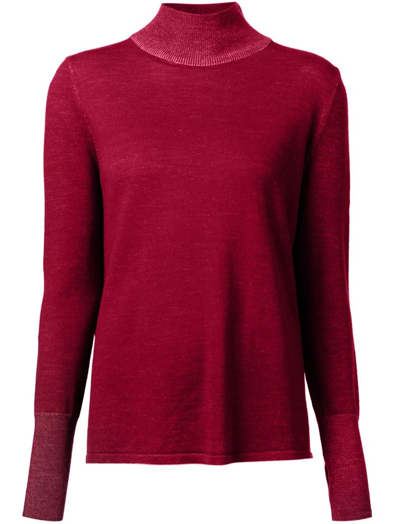 Dion lee Open Back Marled Sweater in Red | Lyst