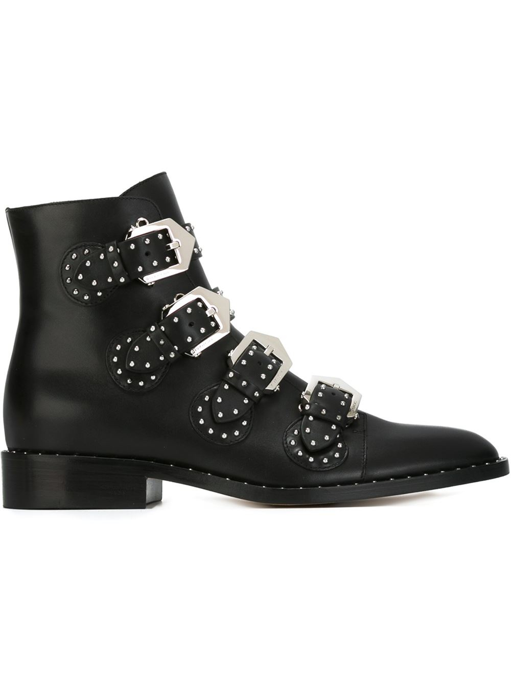givenchy buckled ankle boots in black lyst