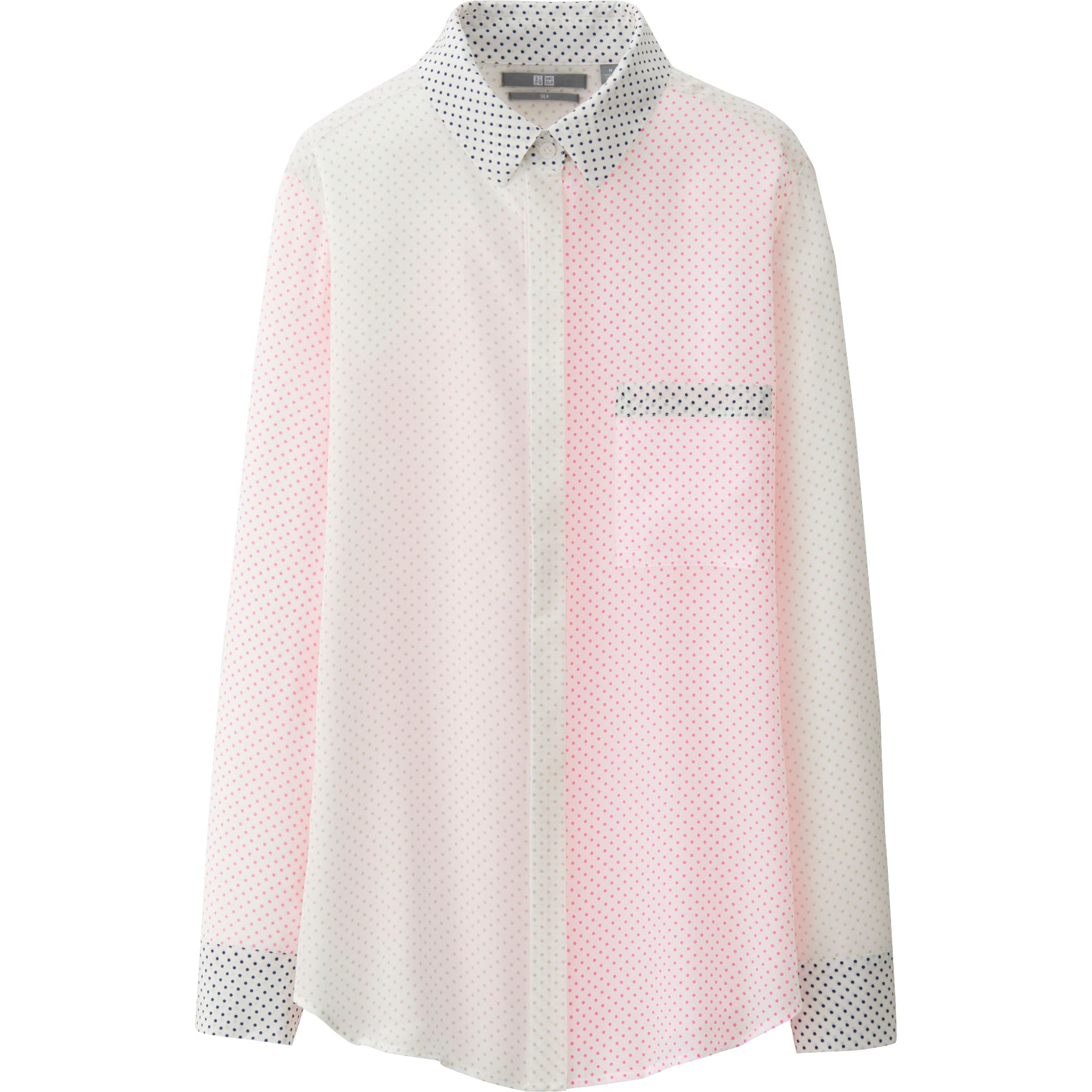 Women'S Pink Long Sleeve Blouse 8