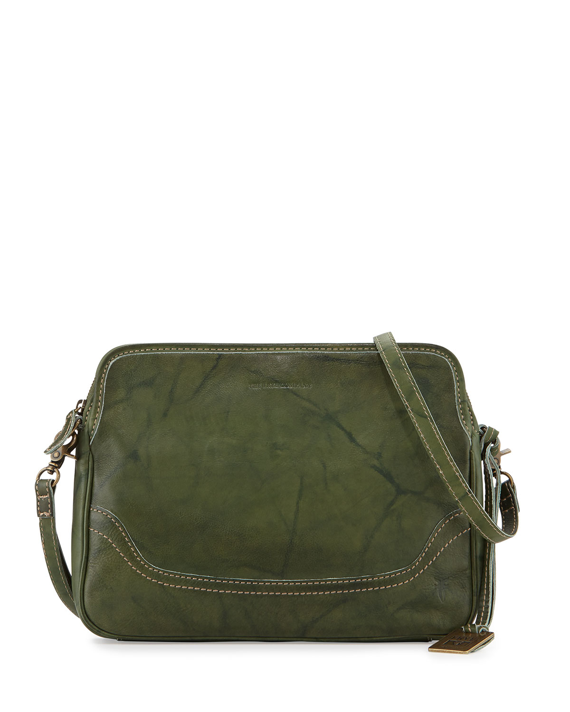 Frye Campus Leather Cross-Body Clutch Bag in Green | Lyst