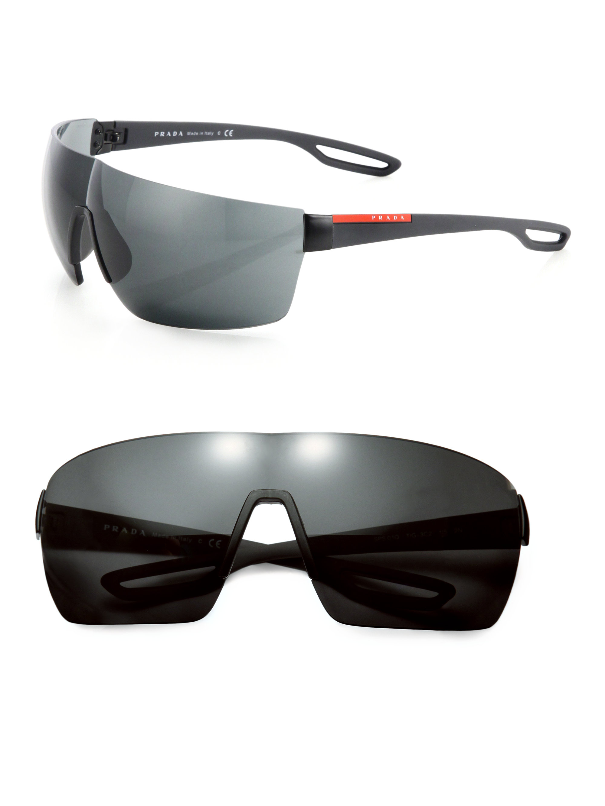 332840a2bcd ... australia lyst prada 38mm injected rimless rectangle sunglasses in black  for men 8cb93 69613 ...