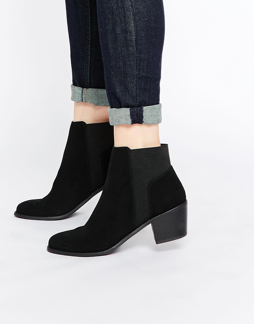 asos ride the wave chelsea ankle boots in black lyst