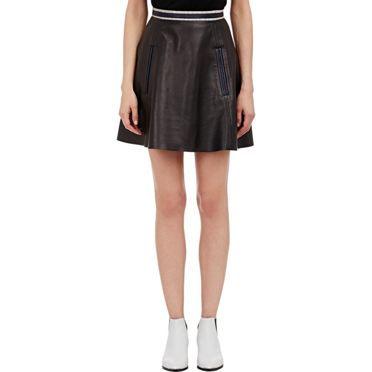 acne studios leather larissa skirt in black lyst