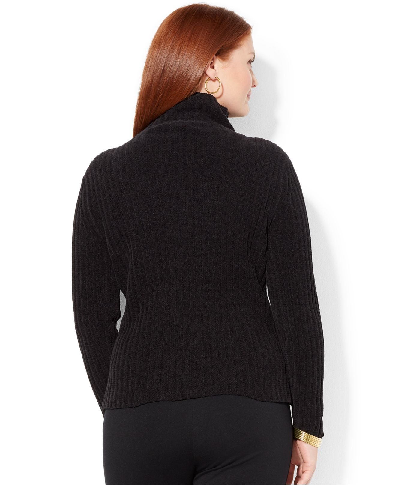Ribbed Sweater: Lauren By Ralph Lauren Plus Size Ribbed Turtleneck