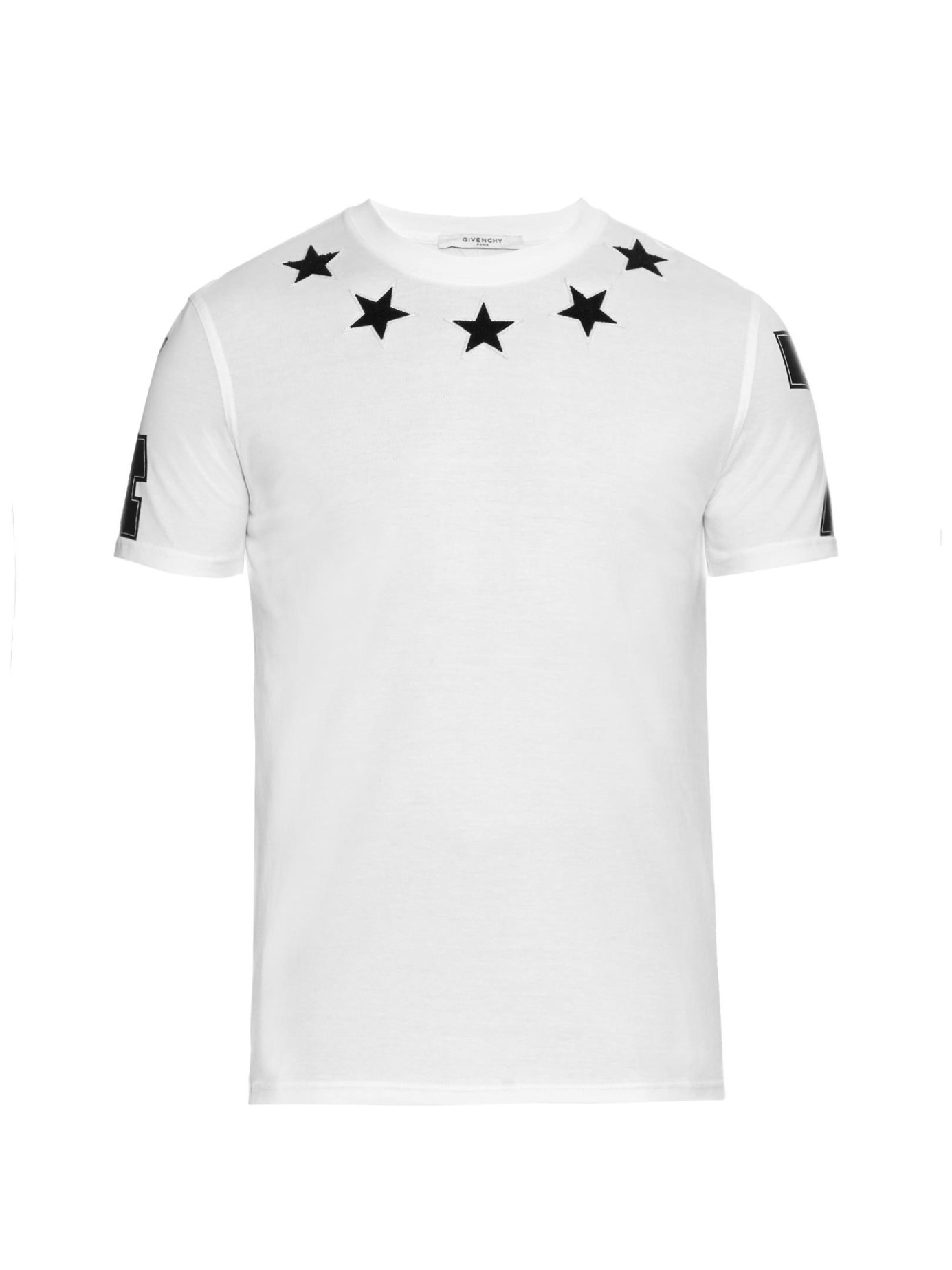b6392270d55d39 Givenchy Cuban-fit Fleece-stars T-shirt in White for Men - Lyst