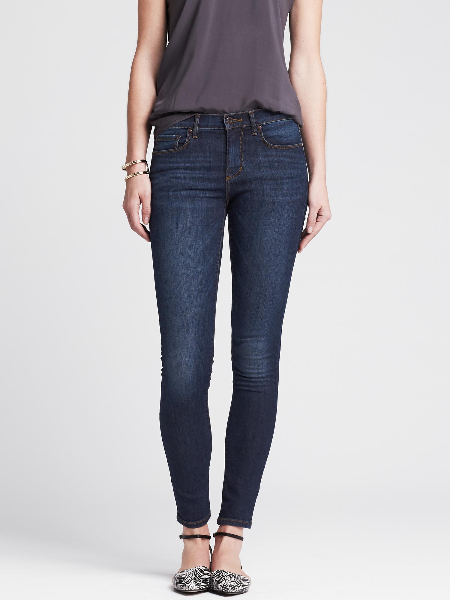 Banana republic Medium Wash Skinny Jean in Blue Medium