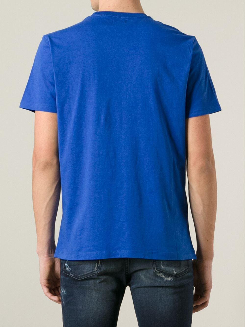 diesel 39 t fusae 39 t shirt in blue for men lyst. Black Bedroom Furniture Sets. Home Design Ideas