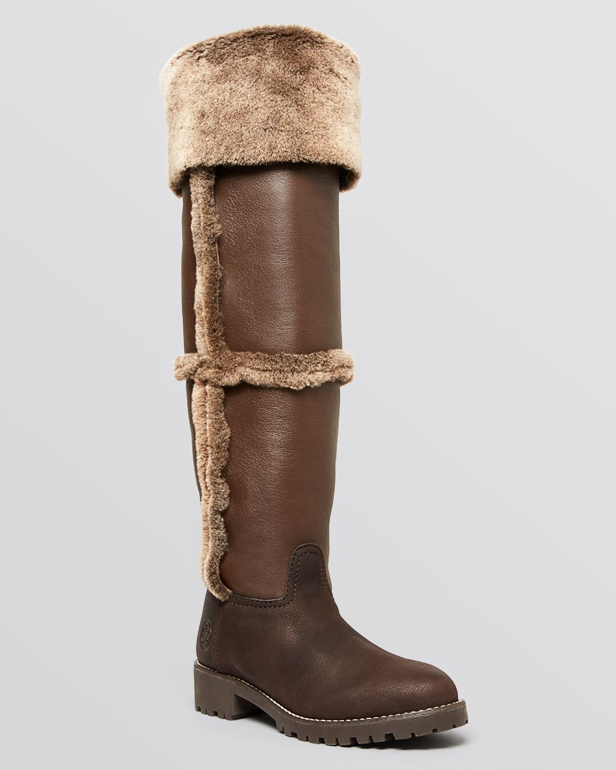 bdda03c46705 Lyst - Tory Burch Over The Knee Shearling Boots - Talouse Shearling ...