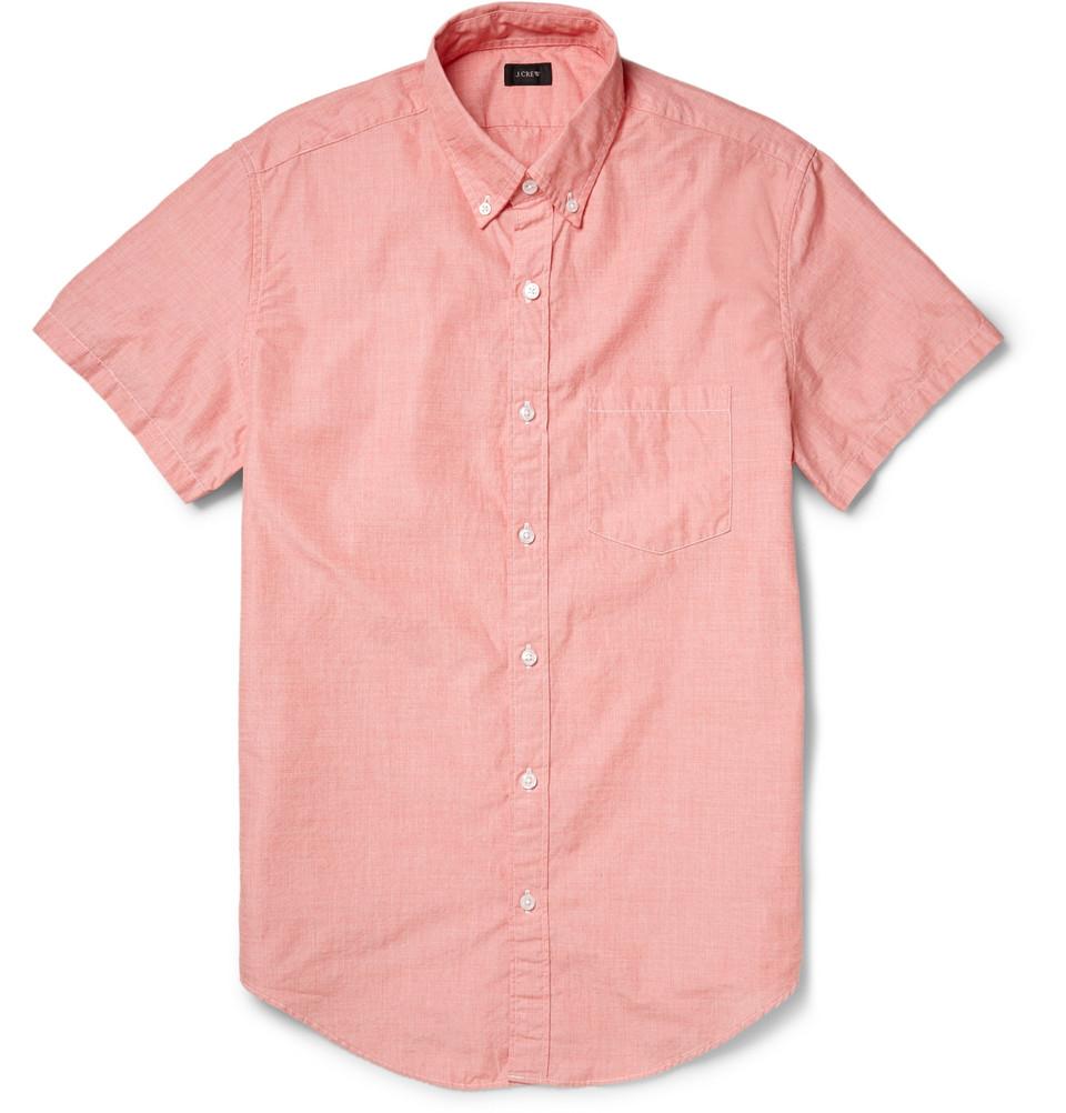lyst button down collar cotton short sleeve shirt