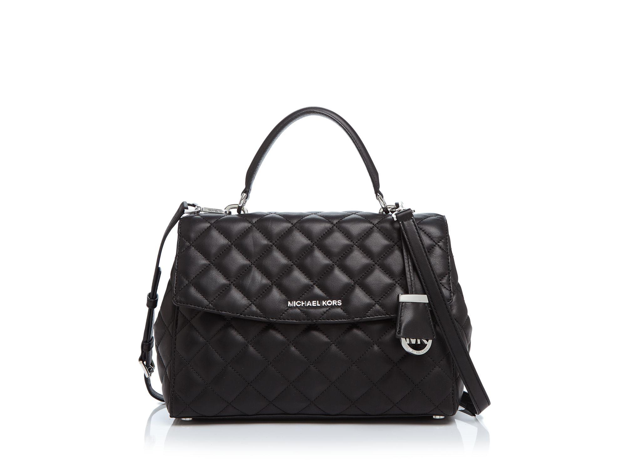Michael michael kors Medium Quilted Ava Satchel - 100 ... : michael kors black quilted handbag - Adamdwight.com