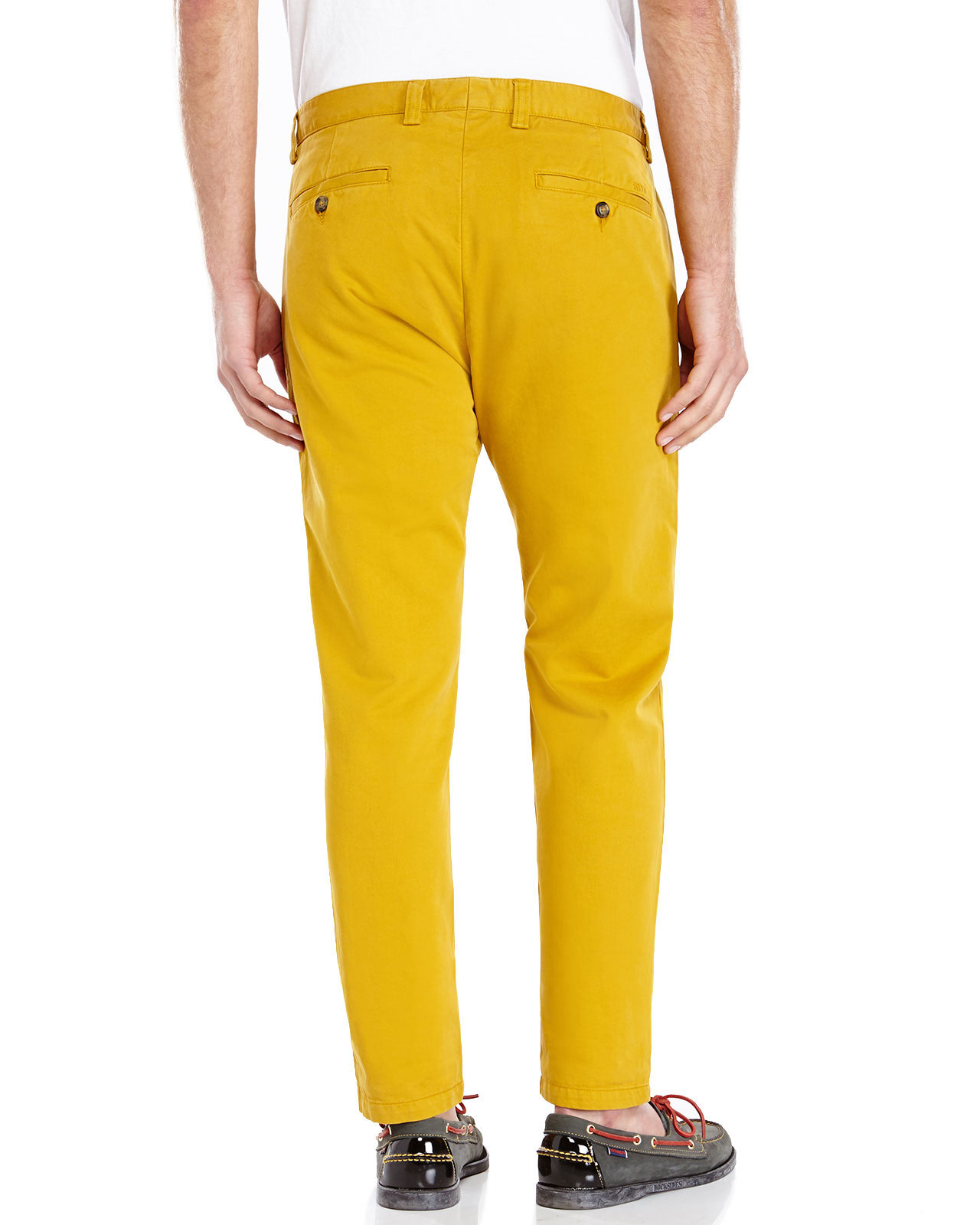 Ami Mustard Chino Pants in Yellow for Men | Lyst
