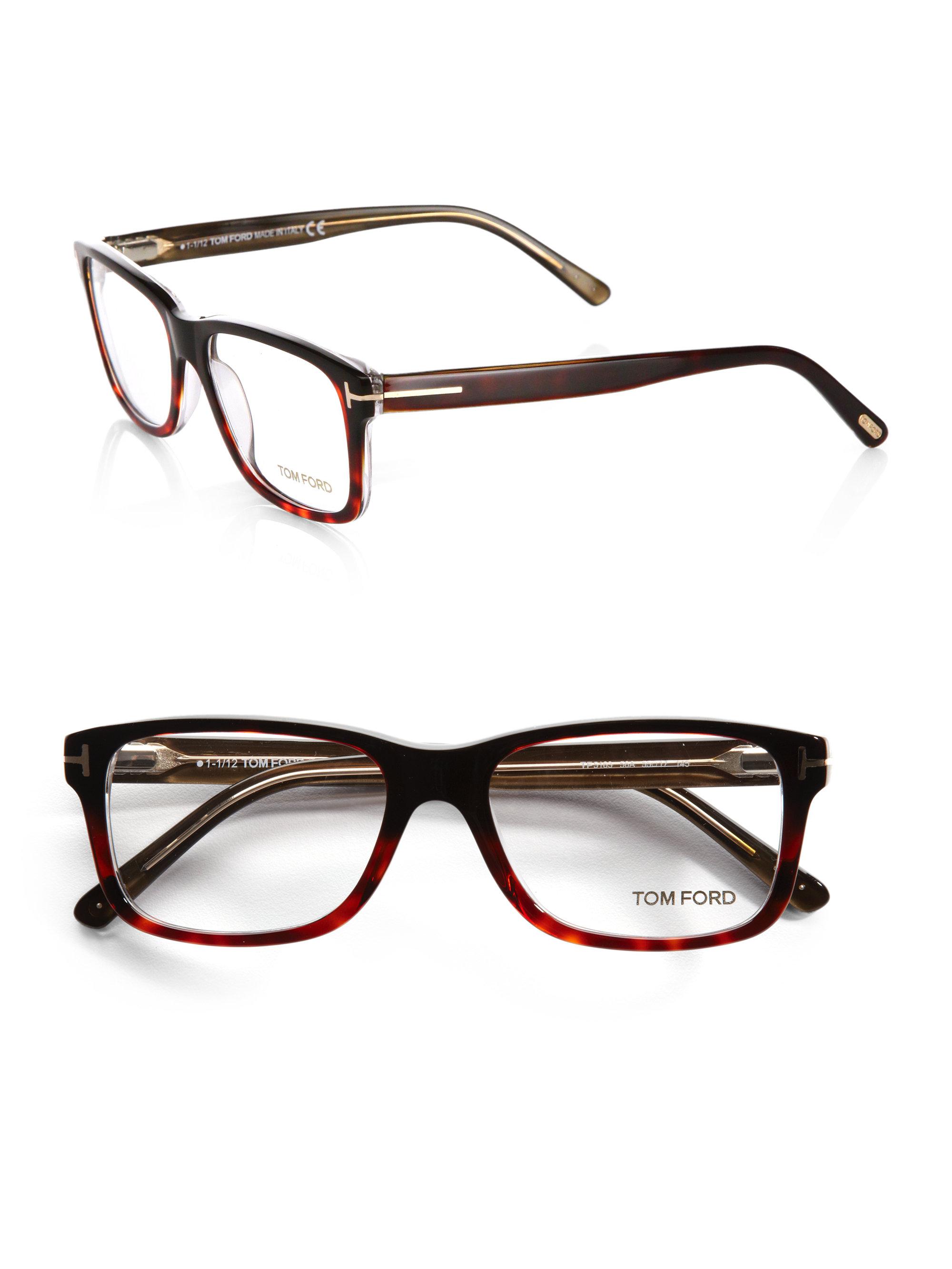 d6e193788f Lyst - Tom Ford 5163 Square Optical Frames in Brown for Men