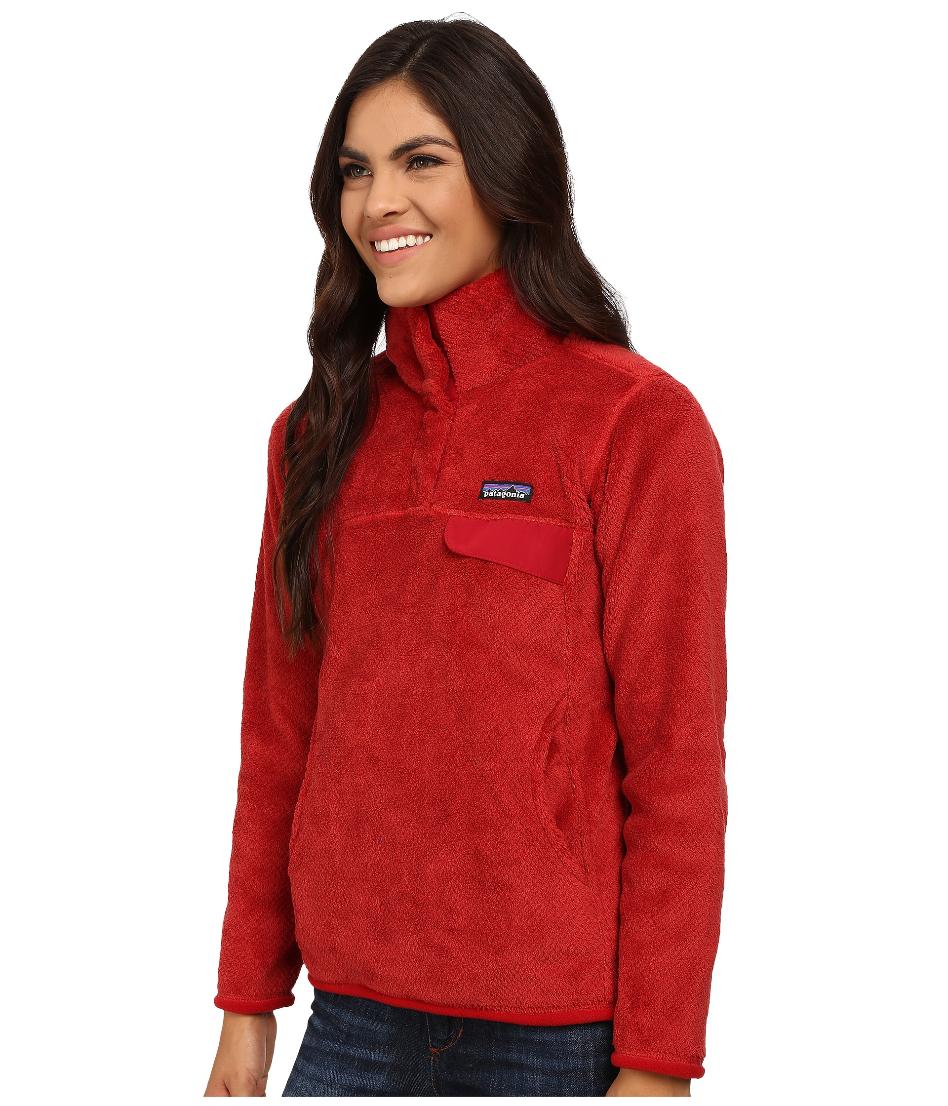 Patagonia Re-tool Snap-t® Fleece Pullover in Red | Lyst