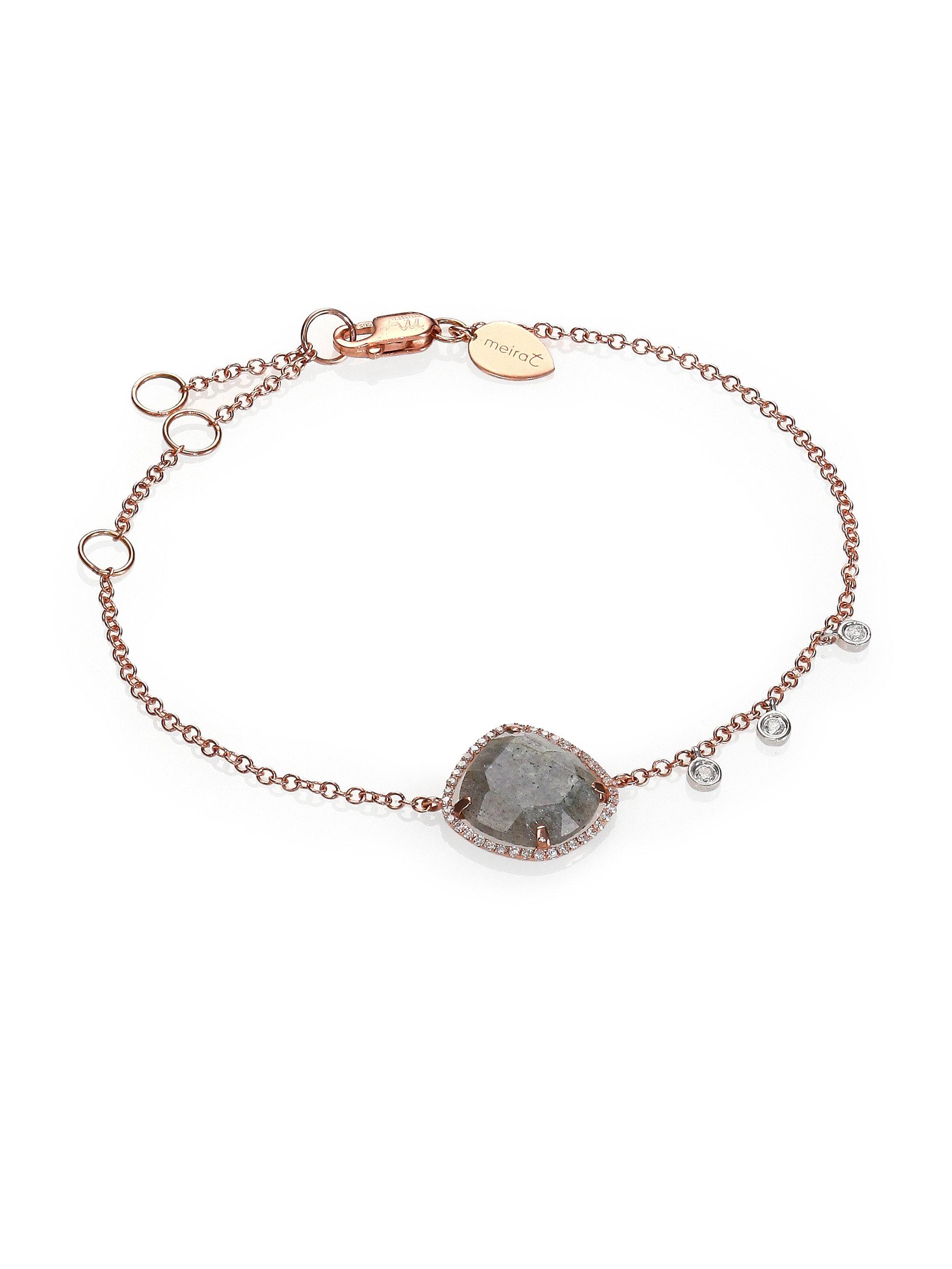 Permalink to Rose Gold Diamond Bar Bracelet