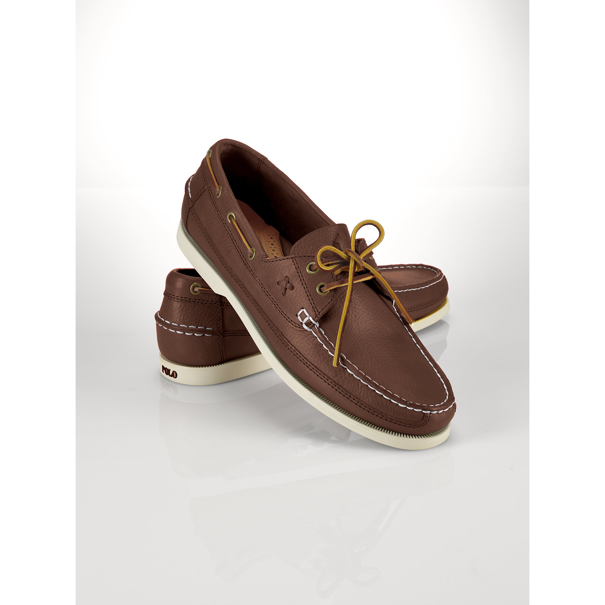 dab9b19cab8 Lyst - Polo Ralph Lauren Barnard Boat Shoe in Brown for Men