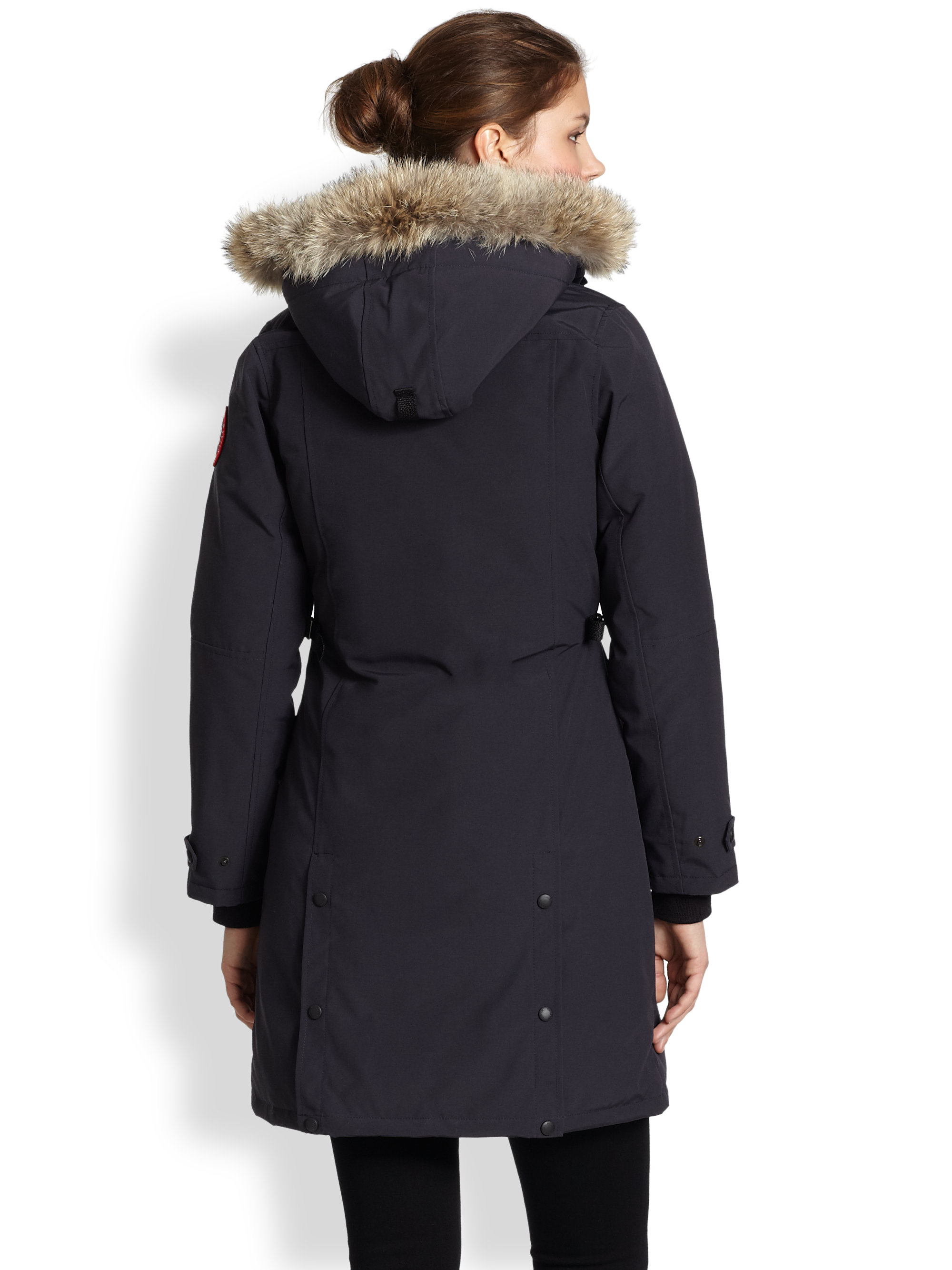 Canada Goose jackets sale shop - Canada goose Fur-trimmed Kensington Down Parka in Blue (NAVY) | Lyst