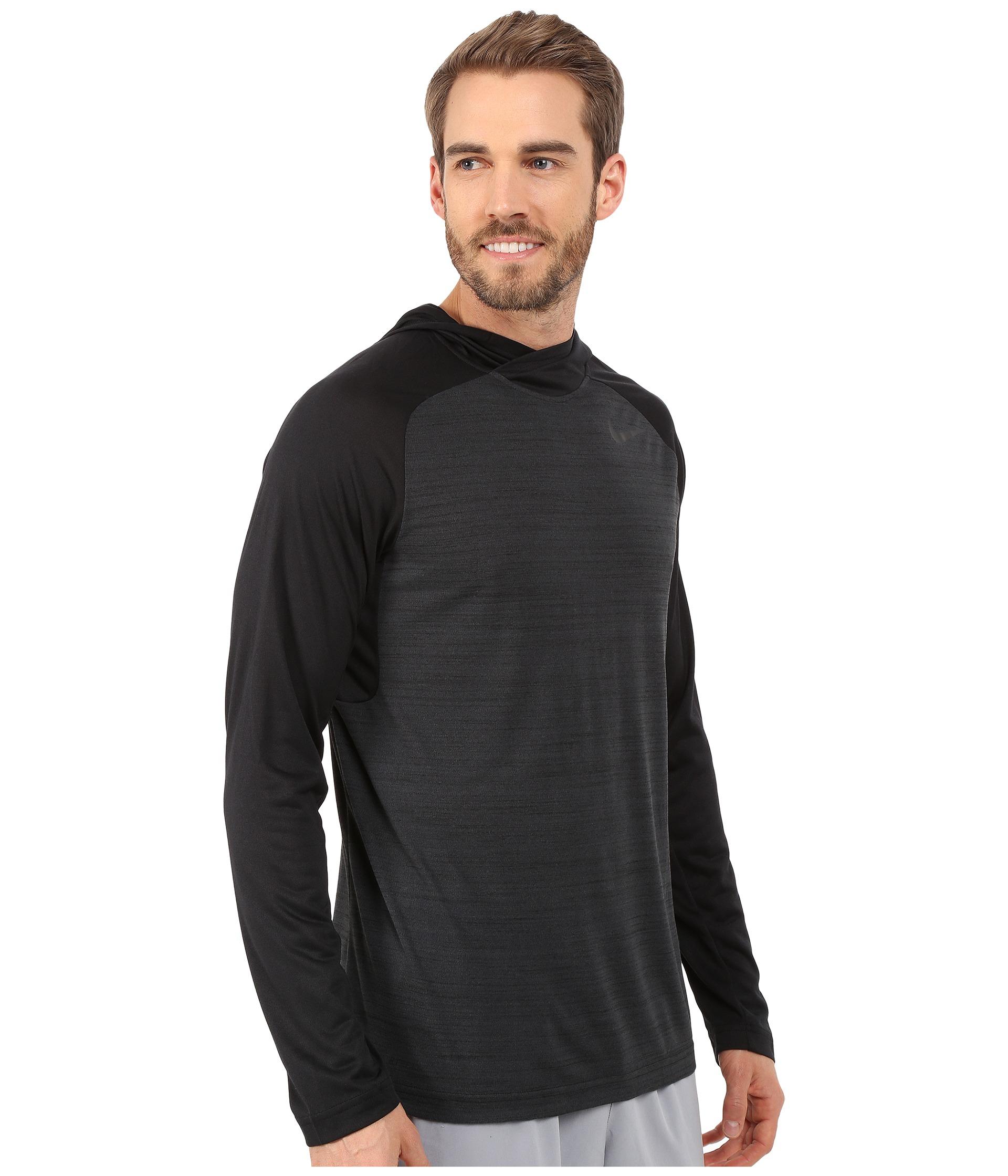 7e483e73 Nike Mens Dri Fit Touch Hooded Long Sleeve Shirt