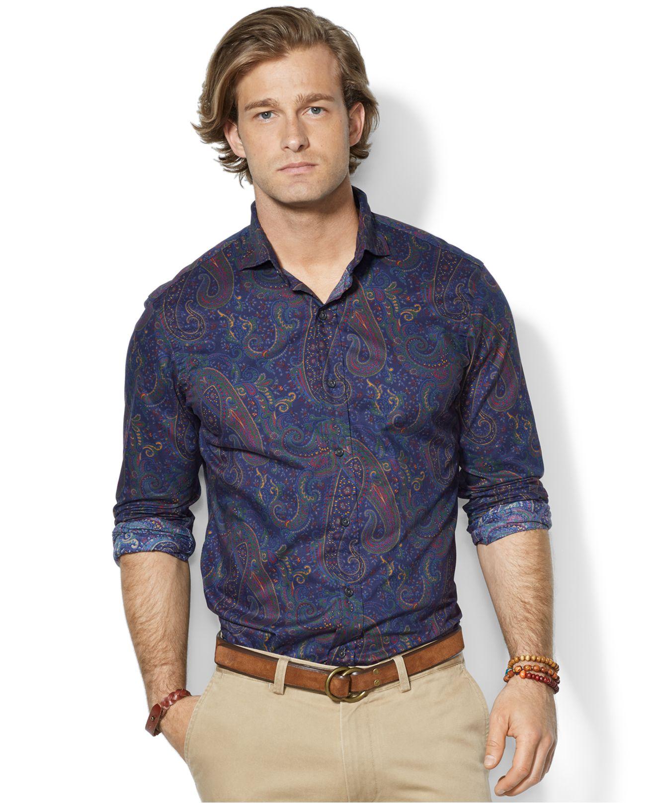 70ecd6dd65a ... coupon code for lyst polo ralph lauren paisley estate shirt for men  f218a e2d04 ...
