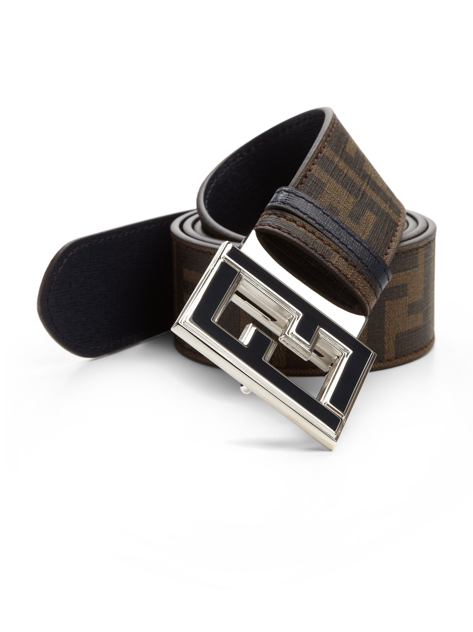Fendi Zucca Reversible Belt in Blue for Men (tobacco-navy ...