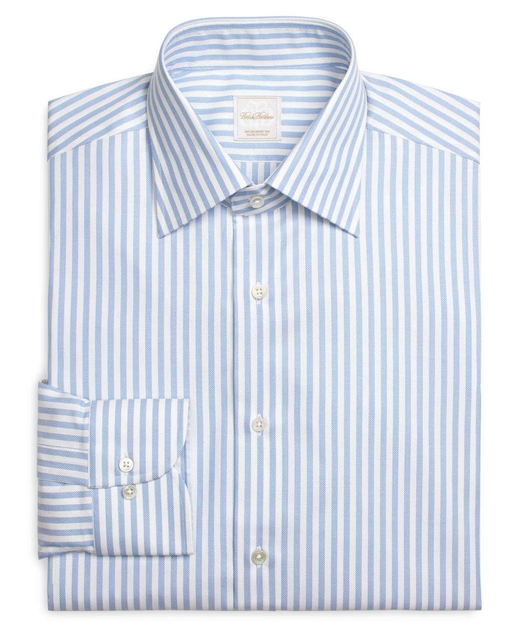 1f5433e6d100f4 Brooks Brothers Blue And White Stripe Luxury Dress Shirt in Blue for ...