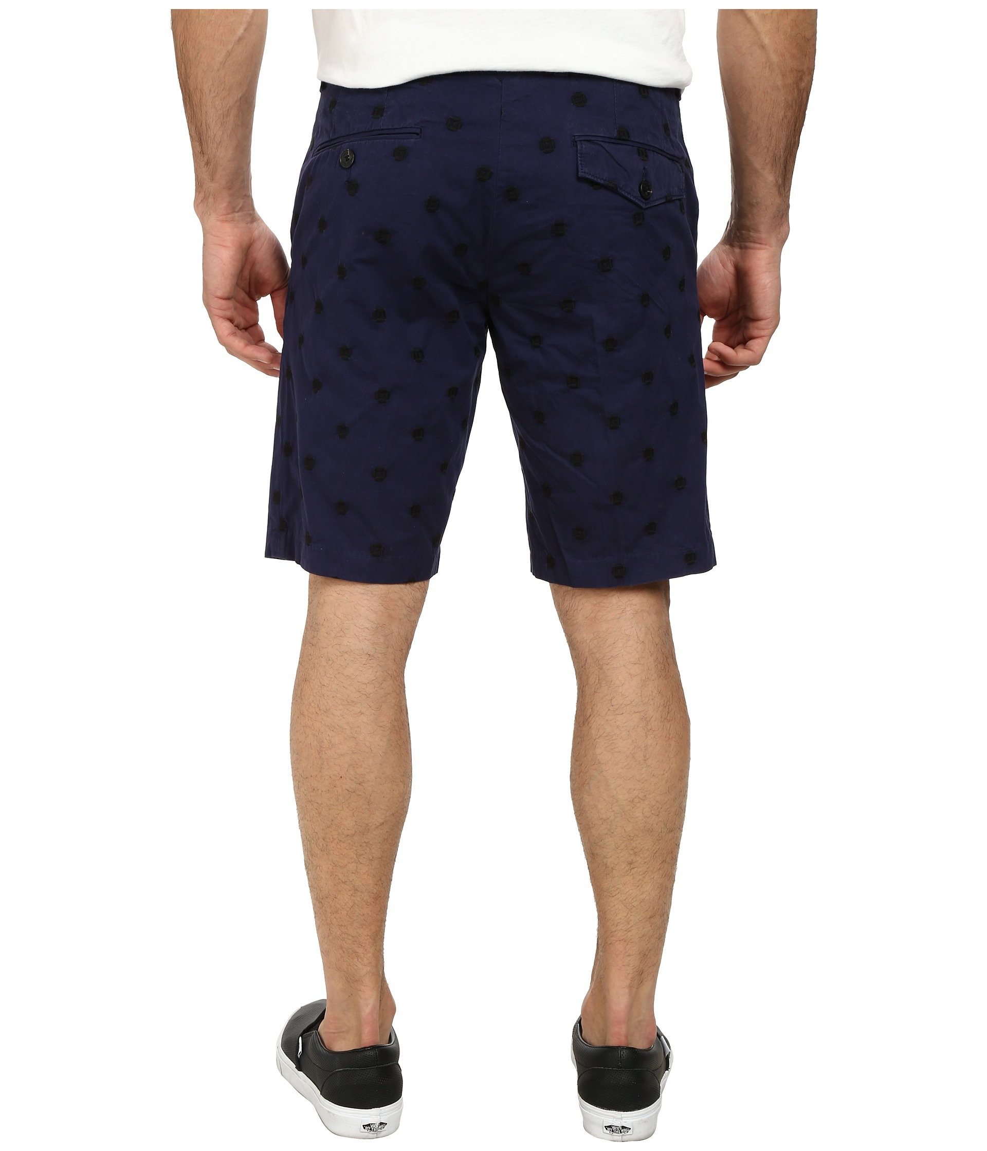 French Connection  Blue Isizwe Embroidered Twill Shorts