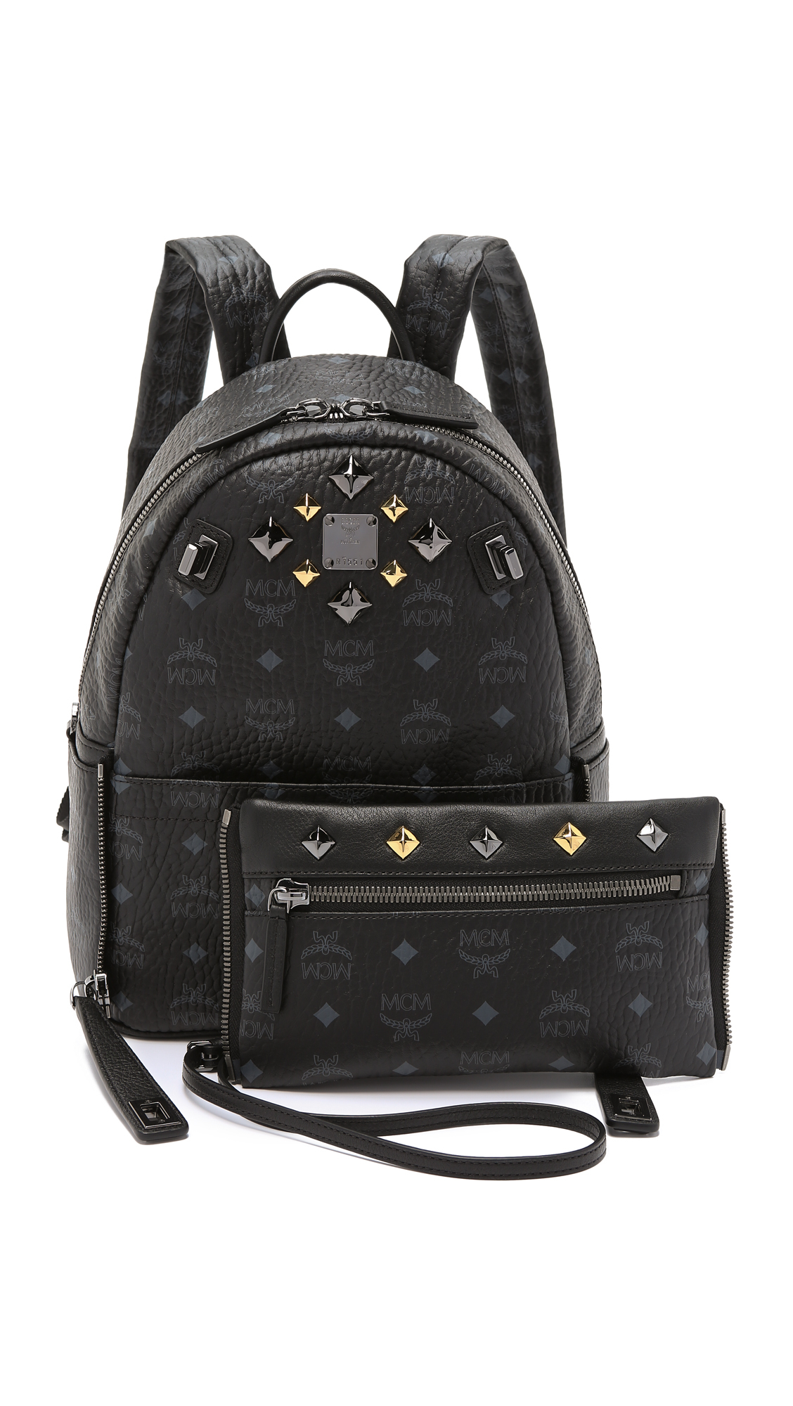 0d7b5605667b Lyst - MCM Convertible Dual Small Stark Backpack - Black in Black