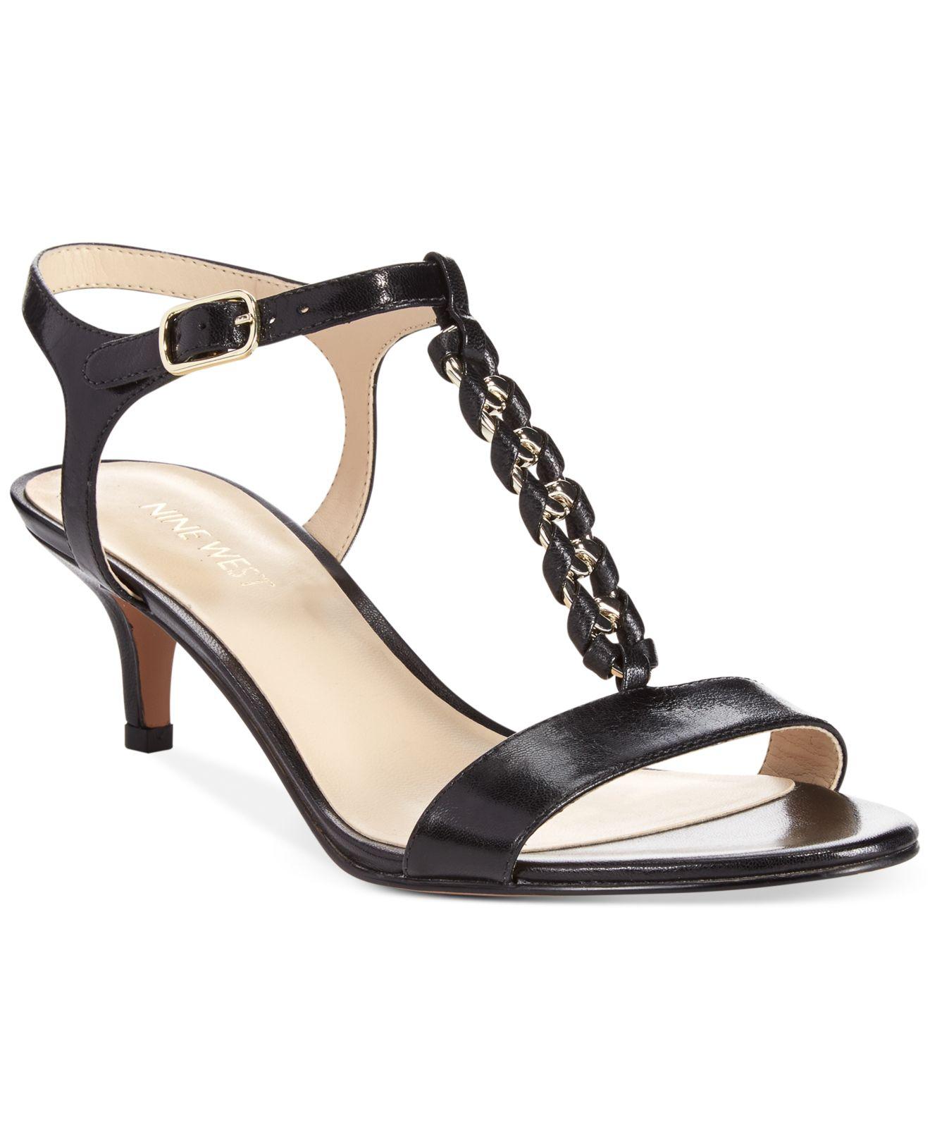 36cf8bfbc81 Lyst Nine West Yocelin Low Heel Dress Sandals in Black