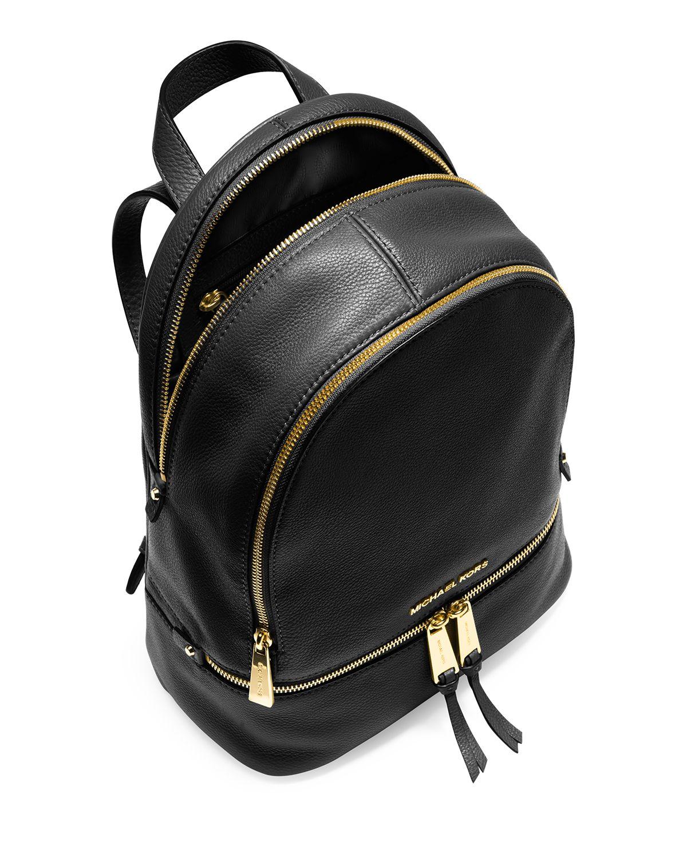 Michael michael kors Backpack - Rhea Zip Solid Large in Black | Lyst