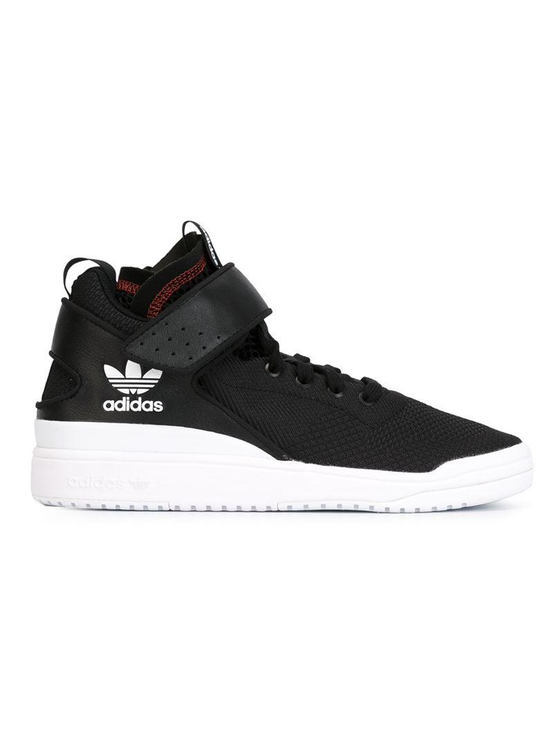 Adidas Originals Veritas High Top Sneakers In Black For