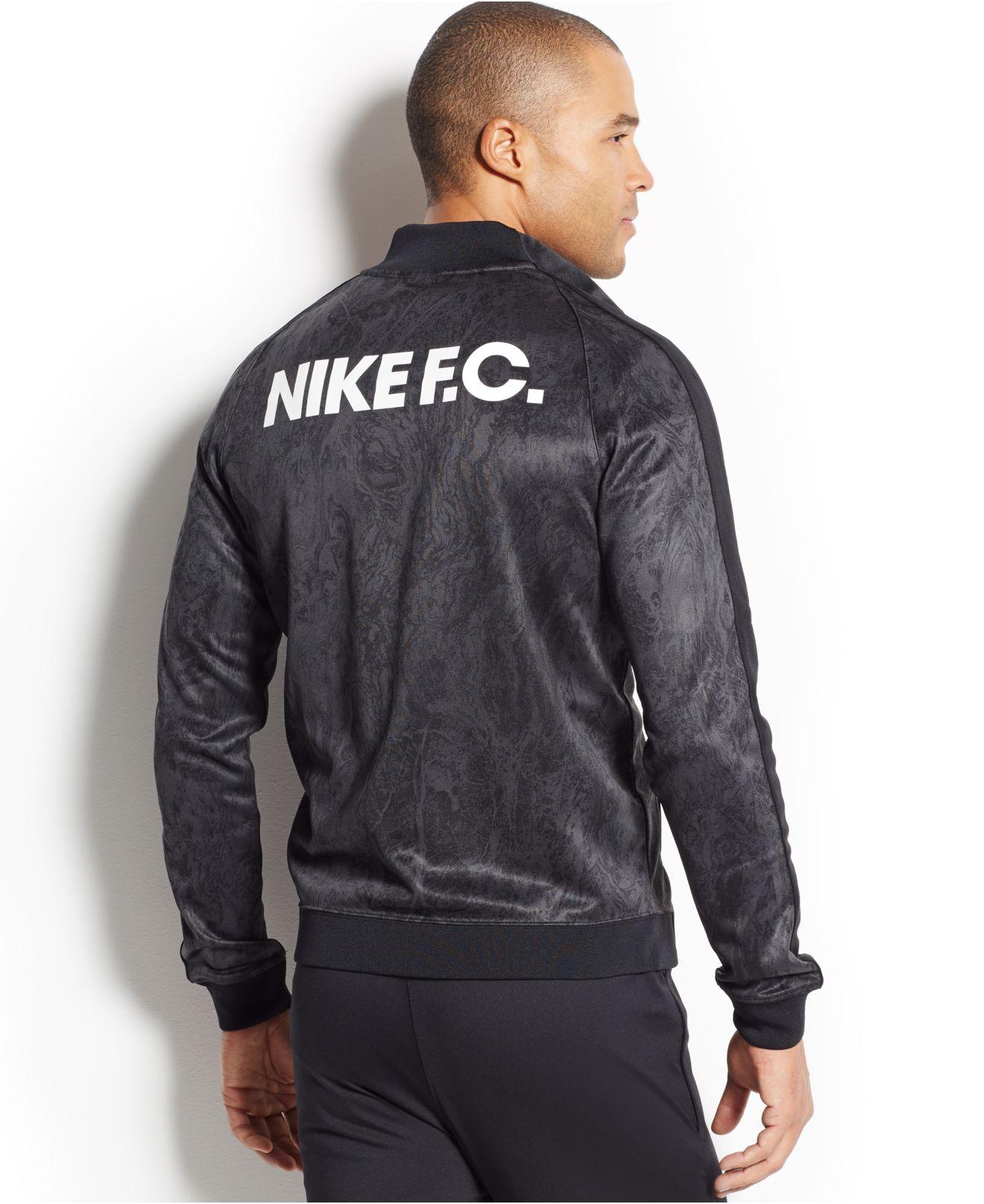 71e5c2c5c1 Lyst - Nike Fc N98 Printed Full-zip Track Jacket in Black for Men