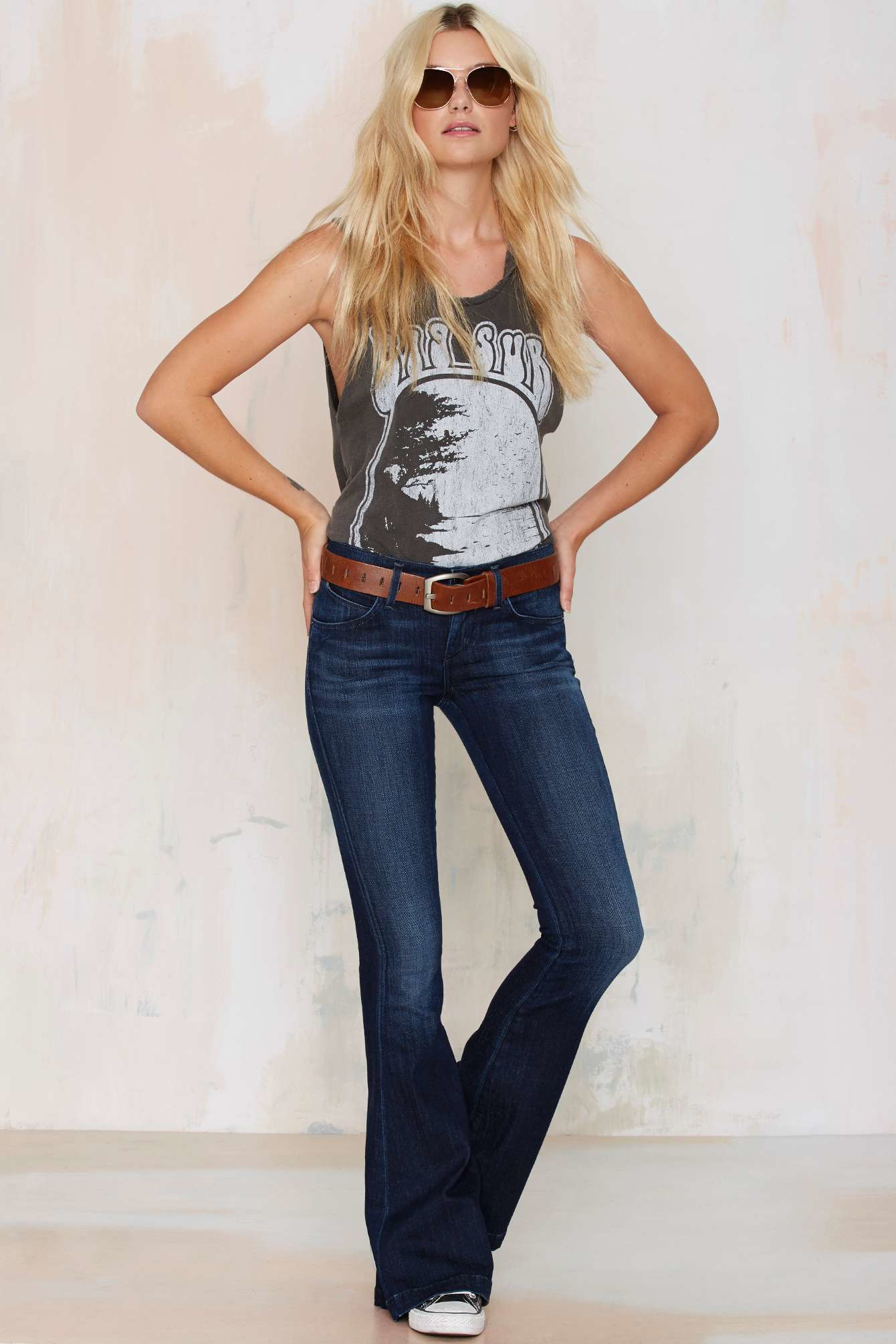midnight rider big sur muscle tee in gray lyst. Black Bedroom Furniture Sets. Home Design Ideas